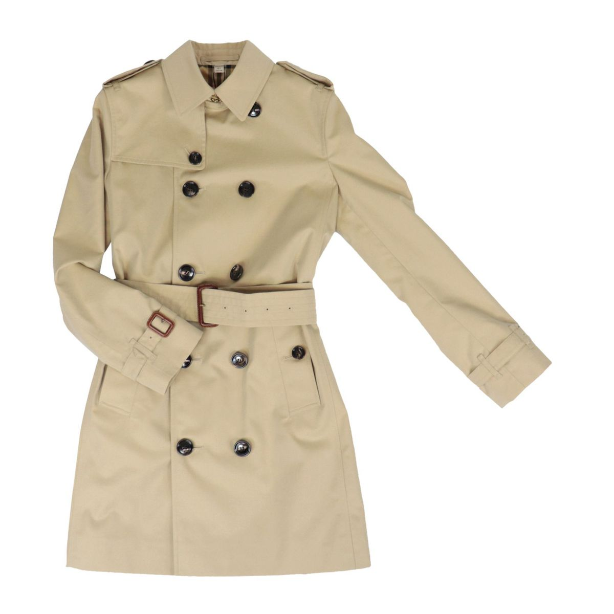 Double-breasted Mayfair cotton trench coat Honey Burberry