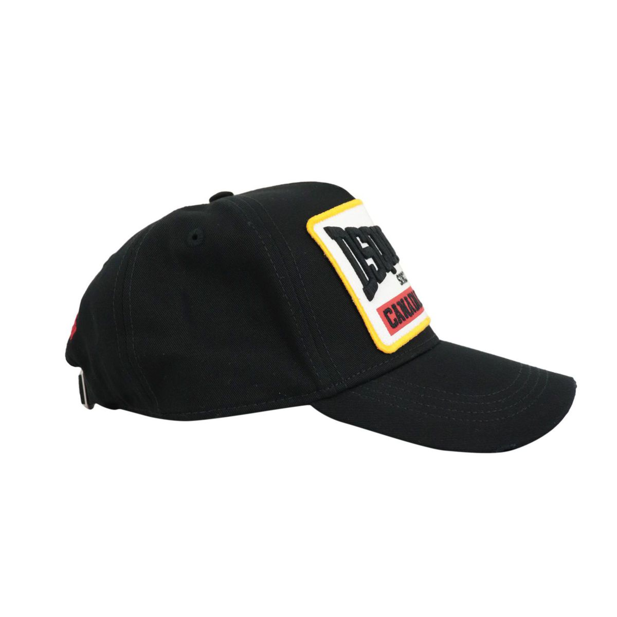 Cotton hat with visor and patch with embroidered logo Black Dsquared2