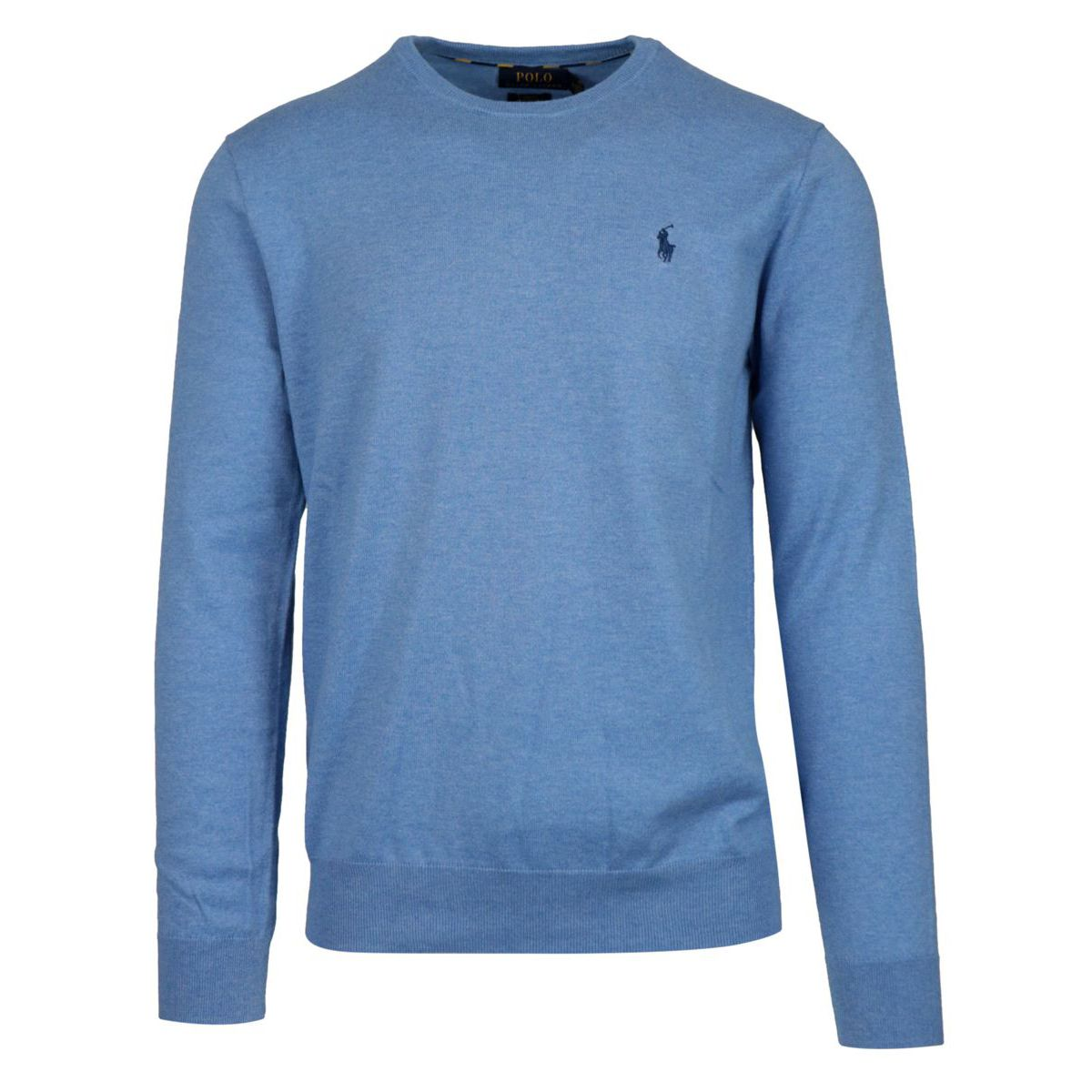 Crew-neck pullover in cotton with logo Light blue Polo Ralph Lauren