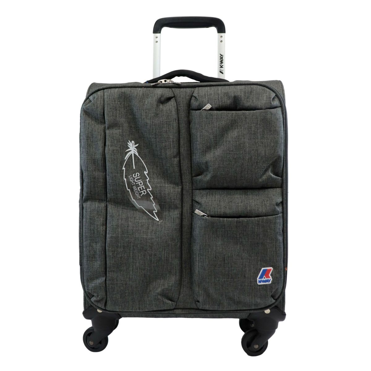 K-TEEN cabin trolley in polyester with front pockets Anthracite K-Way