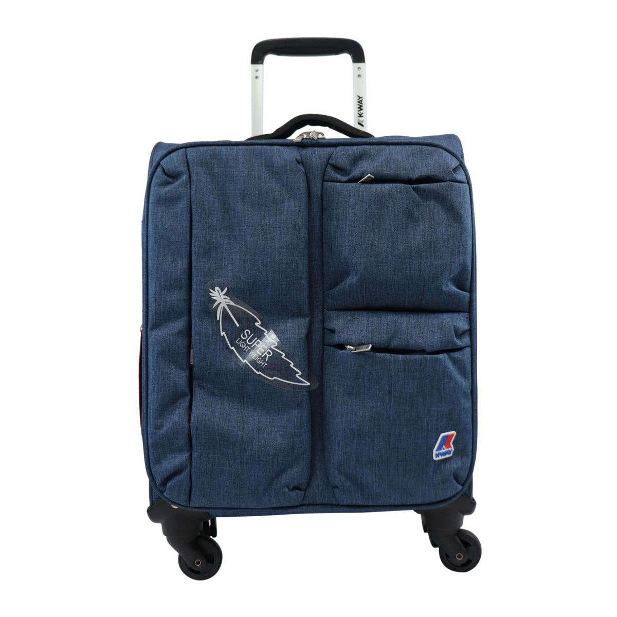 K-TEEN cabin trolley in polyester with front pockets Navy K-Way