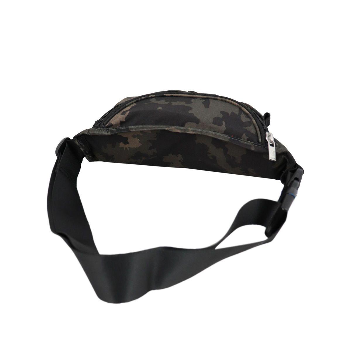 Nylon belt bag with double zip Camouflage K-Way