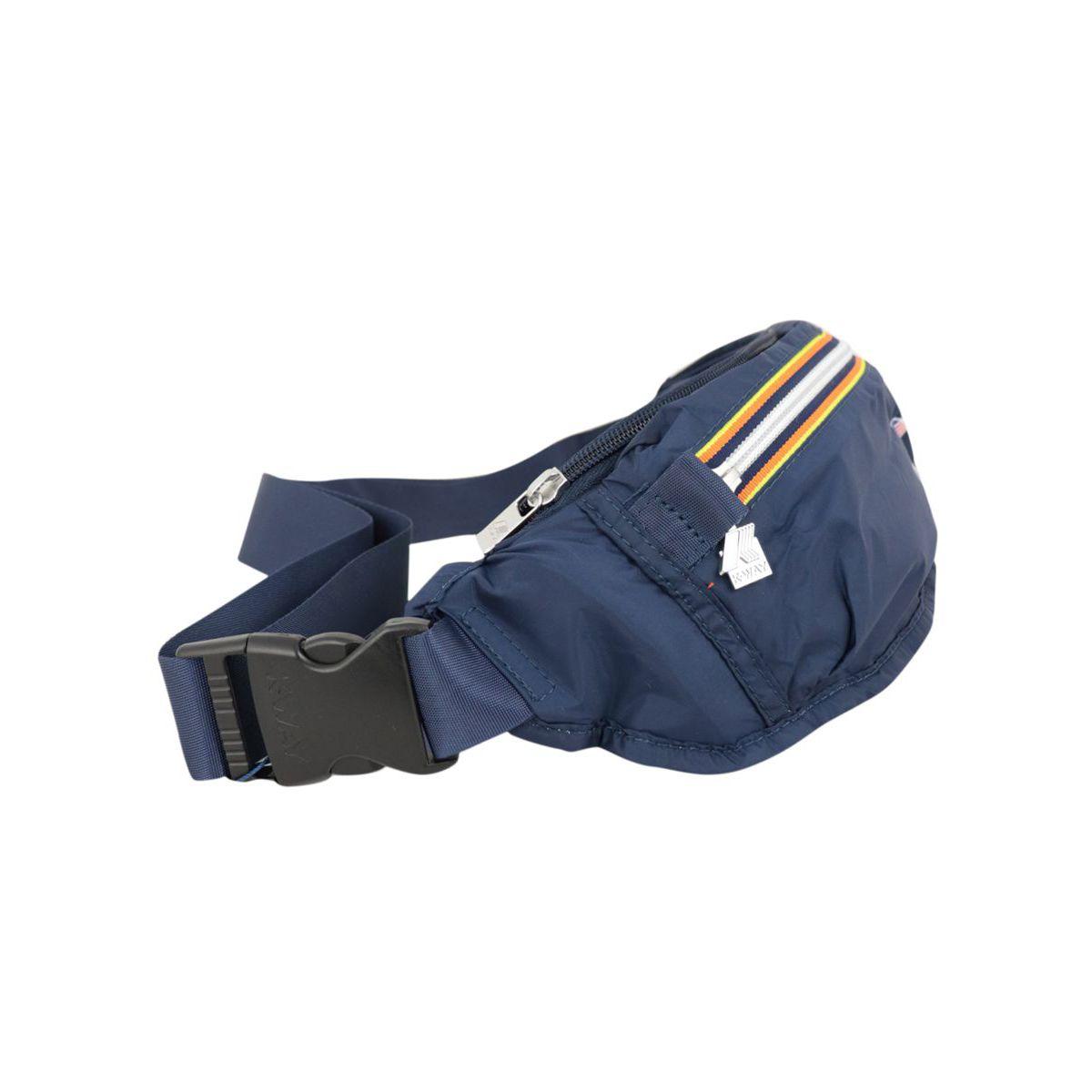 Nylon belt bag with double zip Navy K-Way