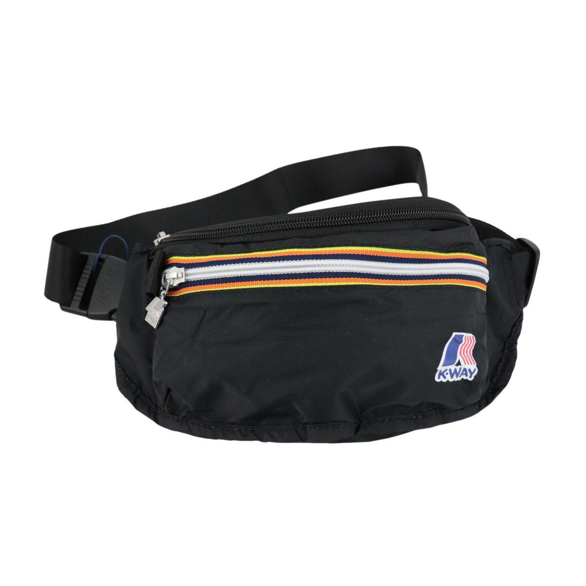 Nylon belt bag with double zip Black K-Way