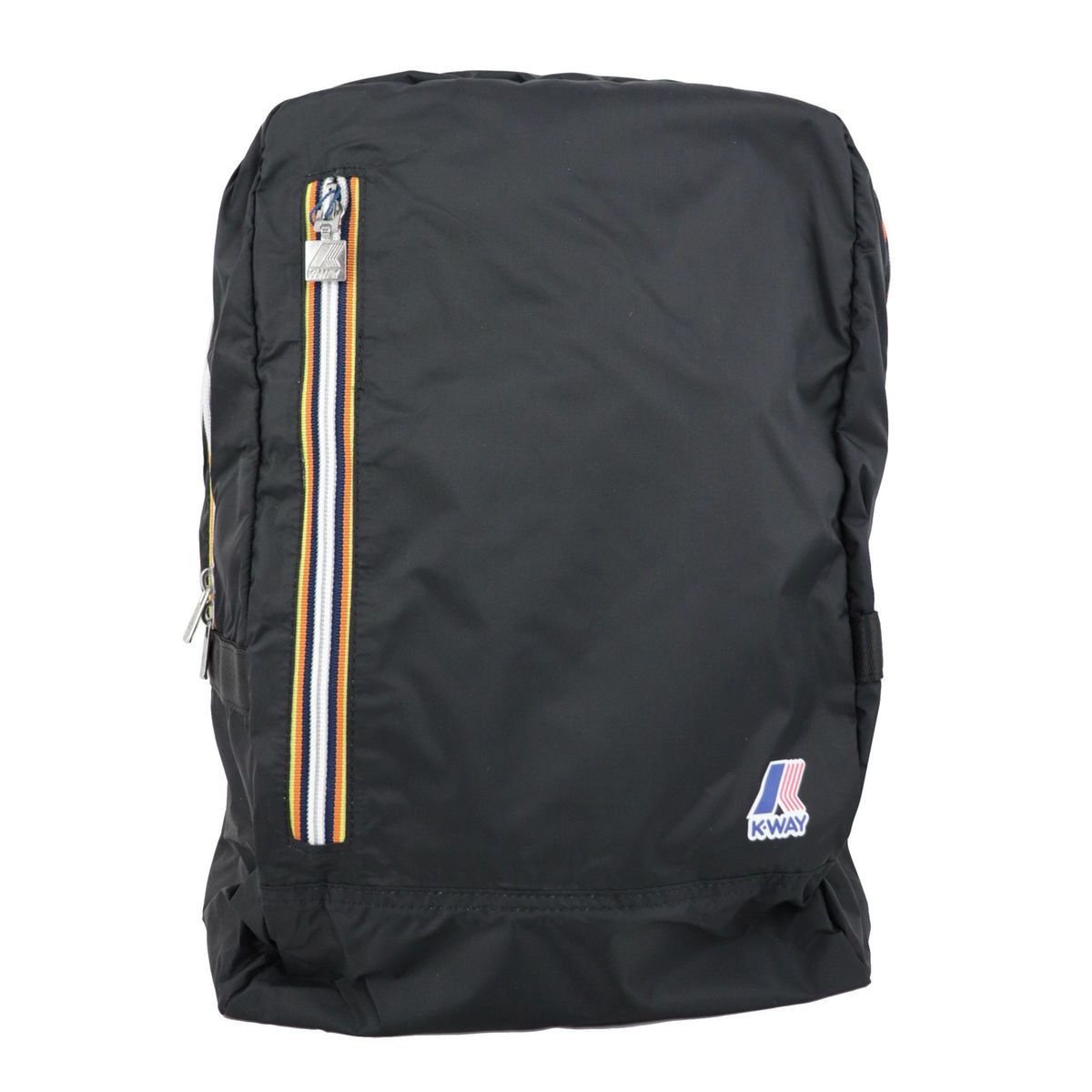 Nylon backpack resealable with clutch Black K-Way