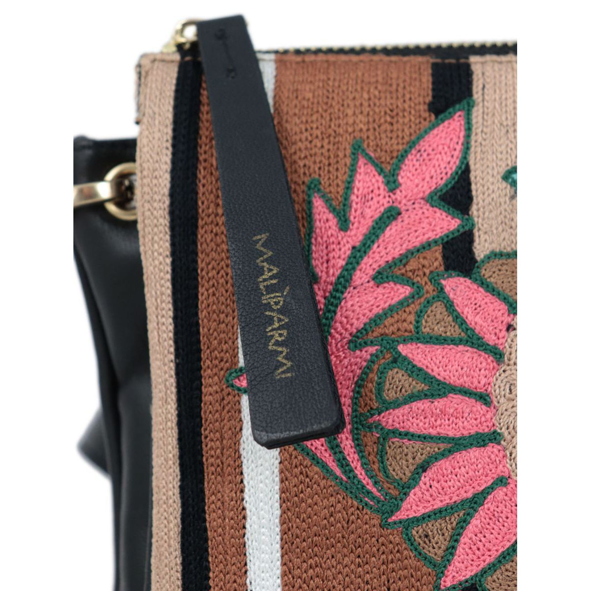 Shoulder bag in synthetic leather with embroidery Fantasy Maliparmi