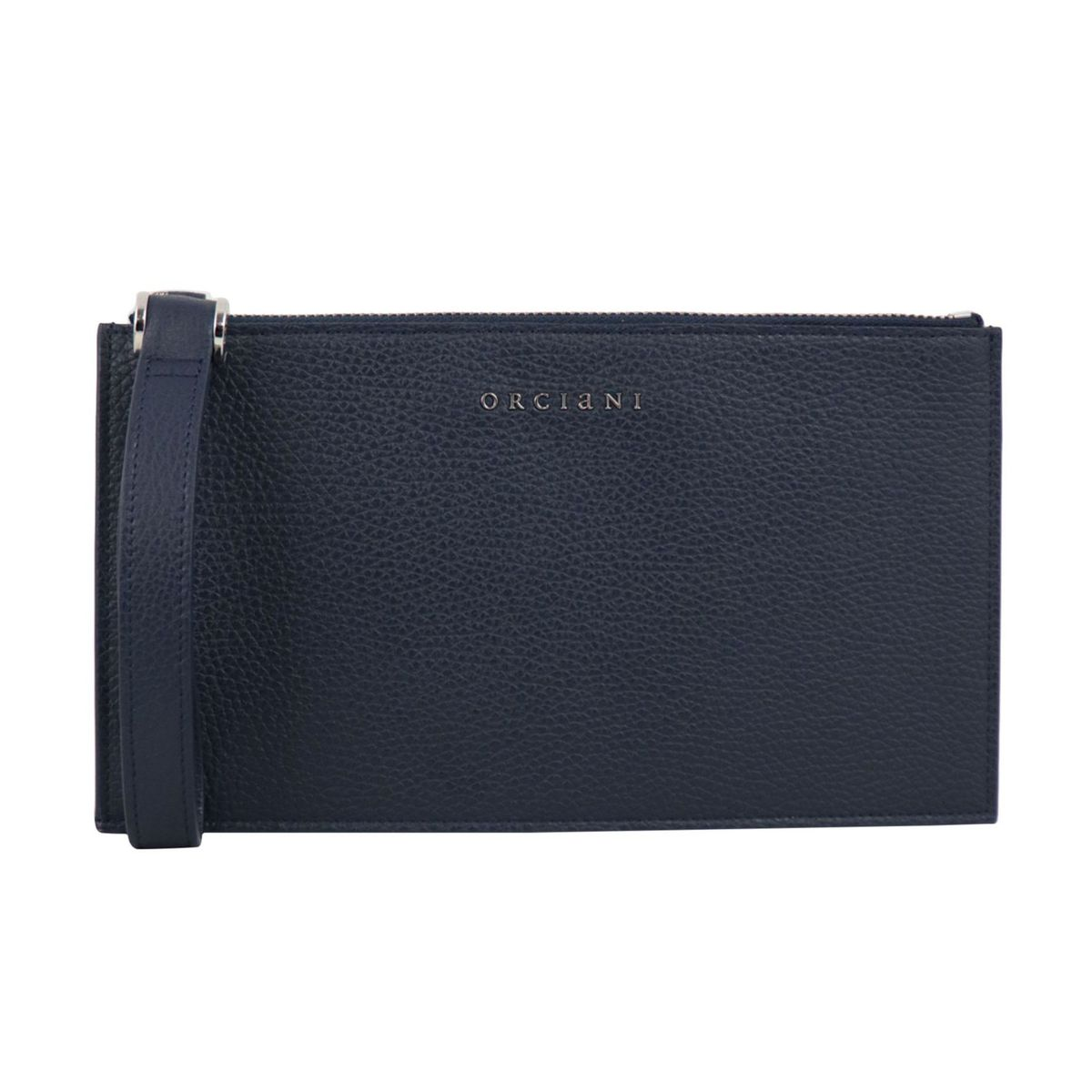 Micron leather clutch bag Navy Orciani