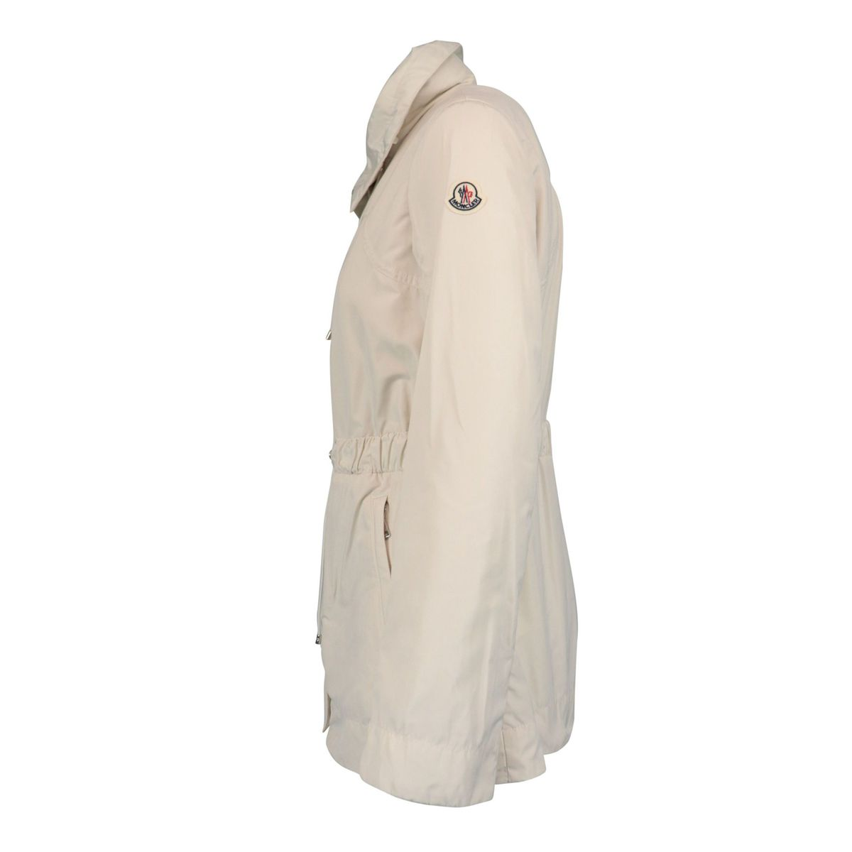 Nylon jacket with drawstring waist White Moncler