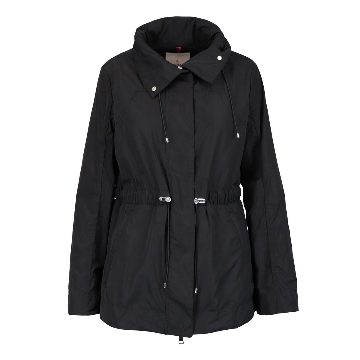 Nylon jacket with drawstring waist Black Moncler