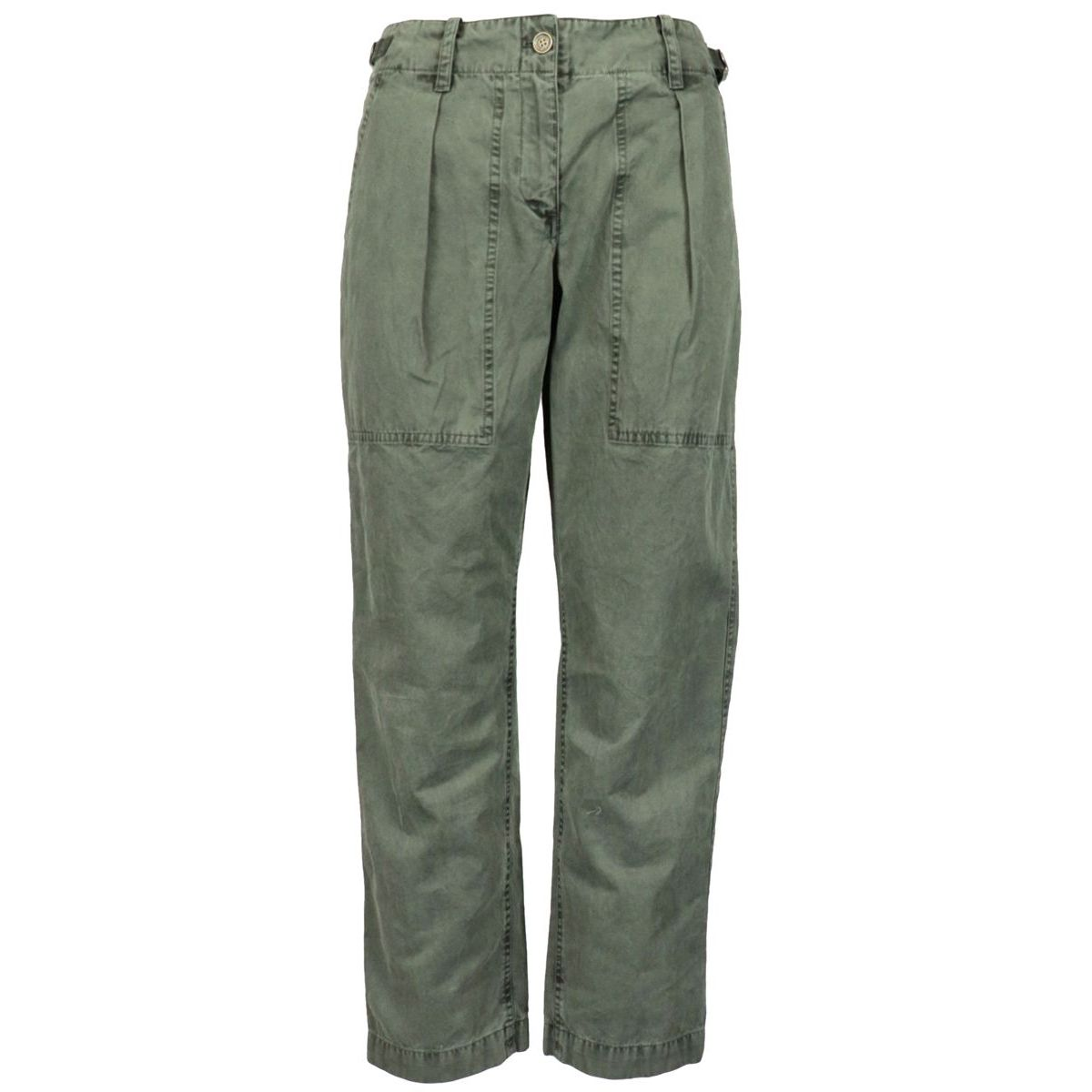 Cotton trousers with pockets Military Michael Kors