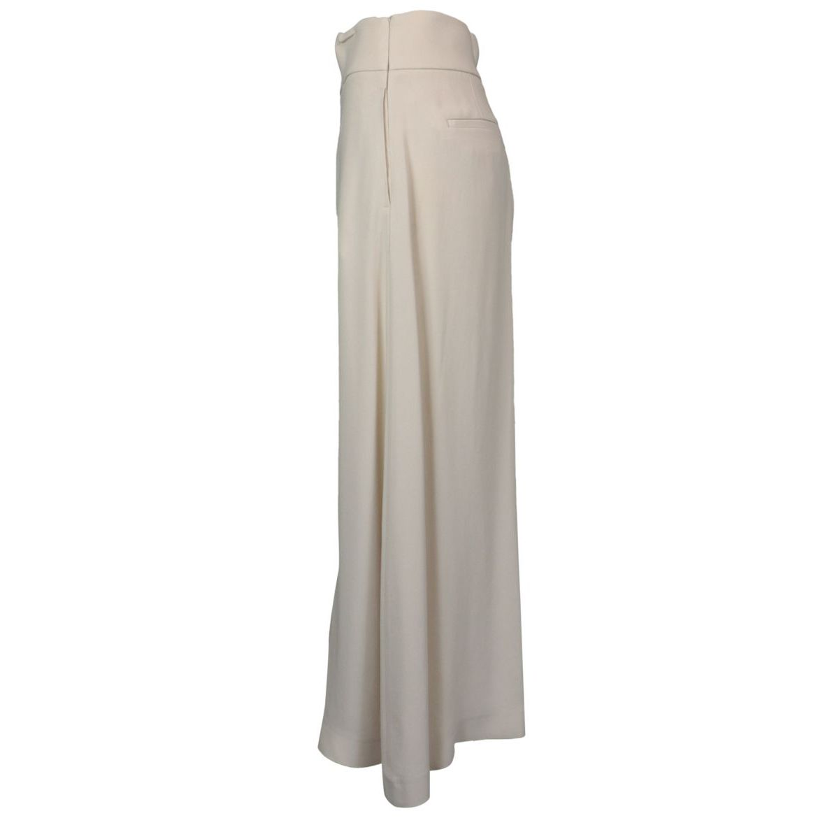 Wide trousers in viscose blend Beige PESERICO