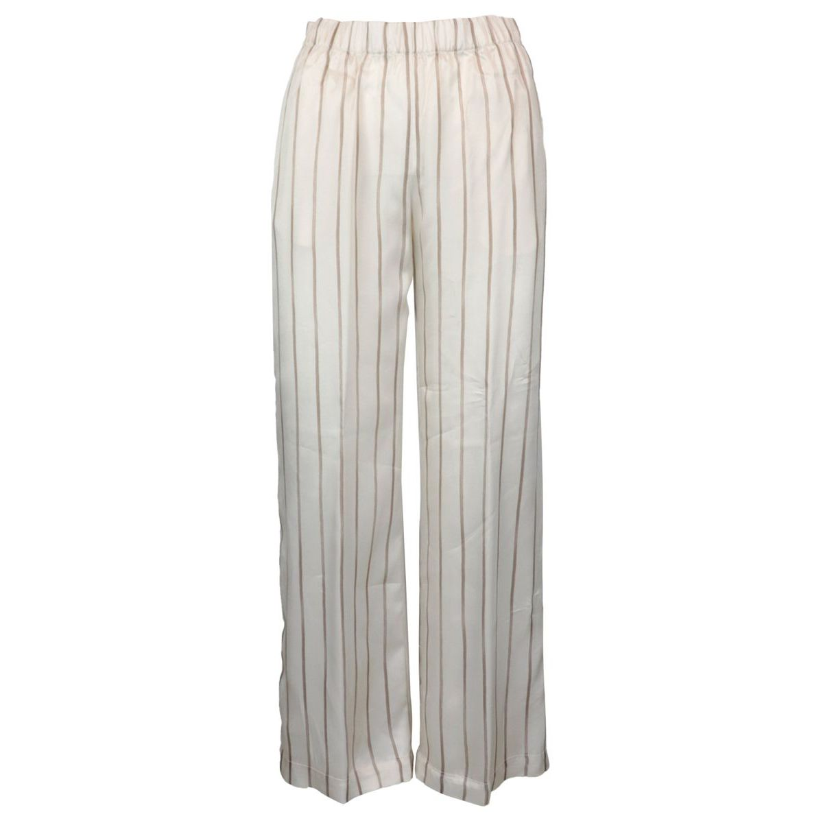 Soft striped viscose trousers Beige PESERICO