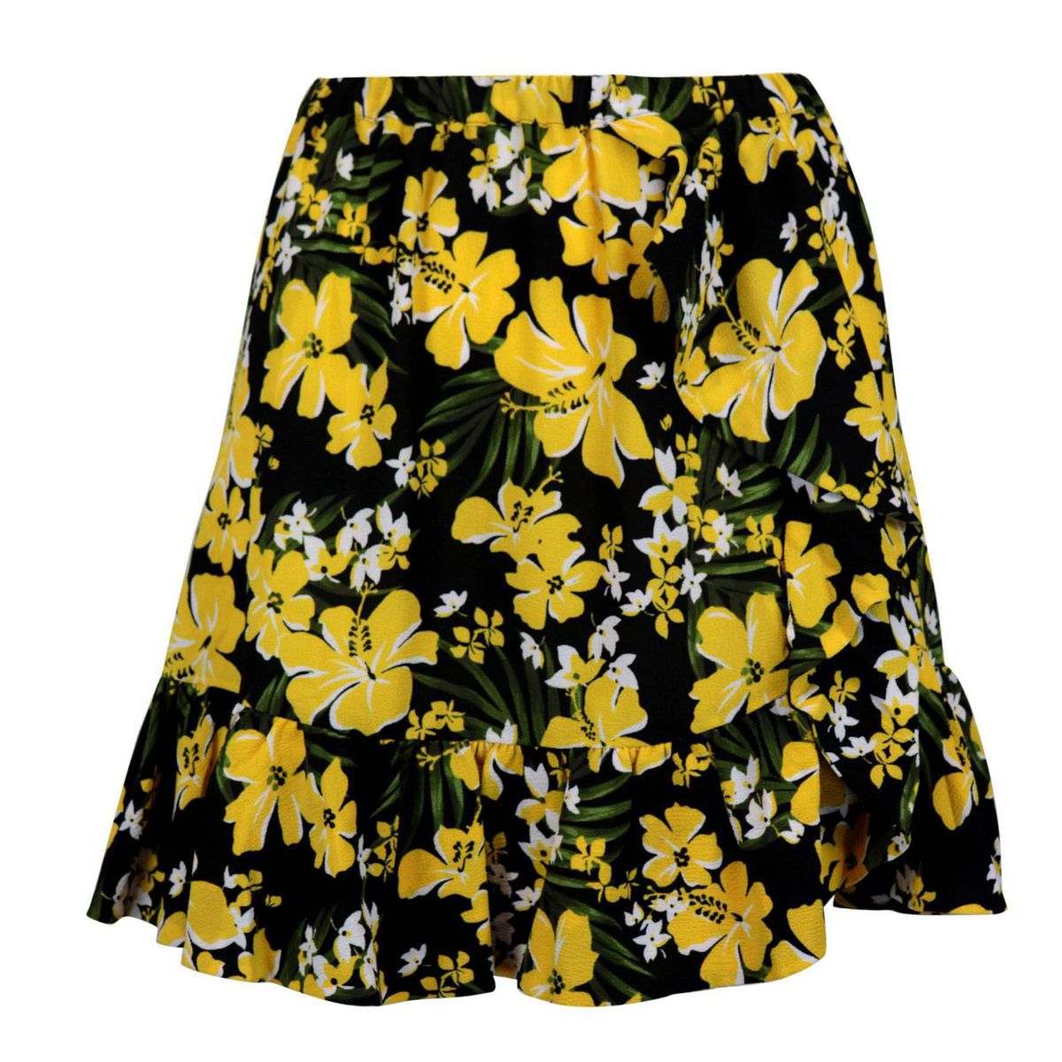 Patterned georgette skirt Yellow black Michael Kors