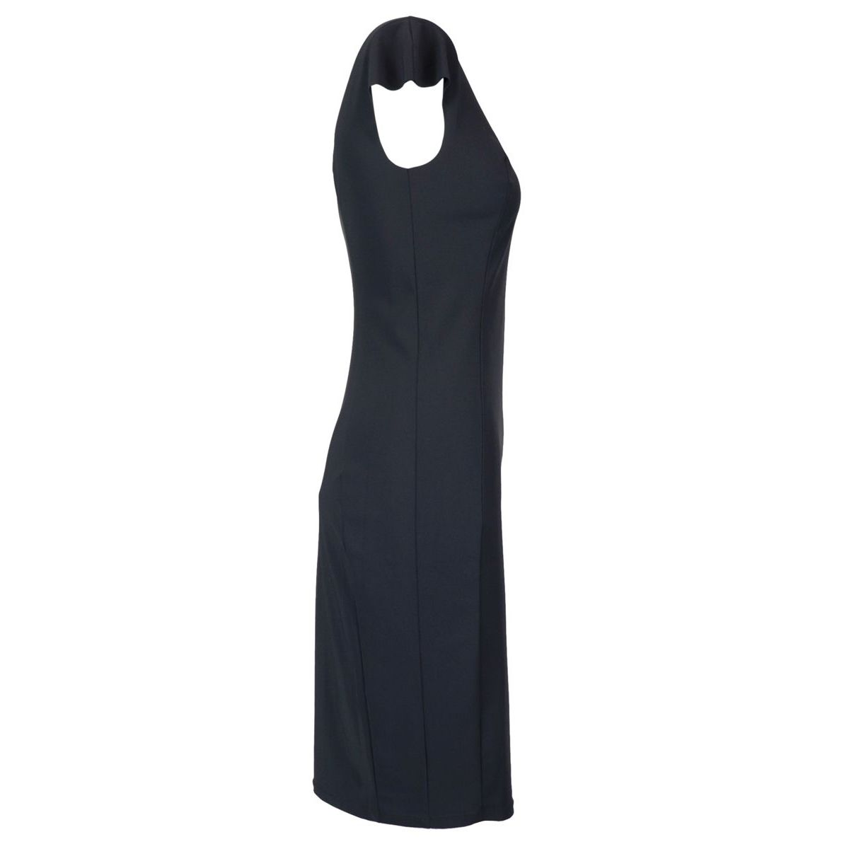 Sleeveless sheath dress in technical fabric Black Patrizia Pepe
