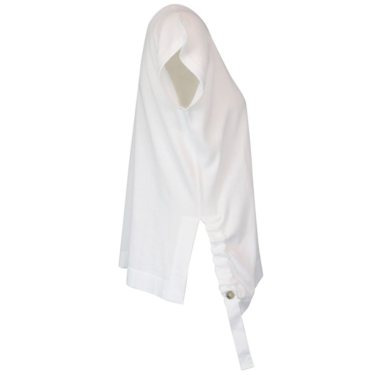 Cotton sweater with side grosgrain detail White PESERICO