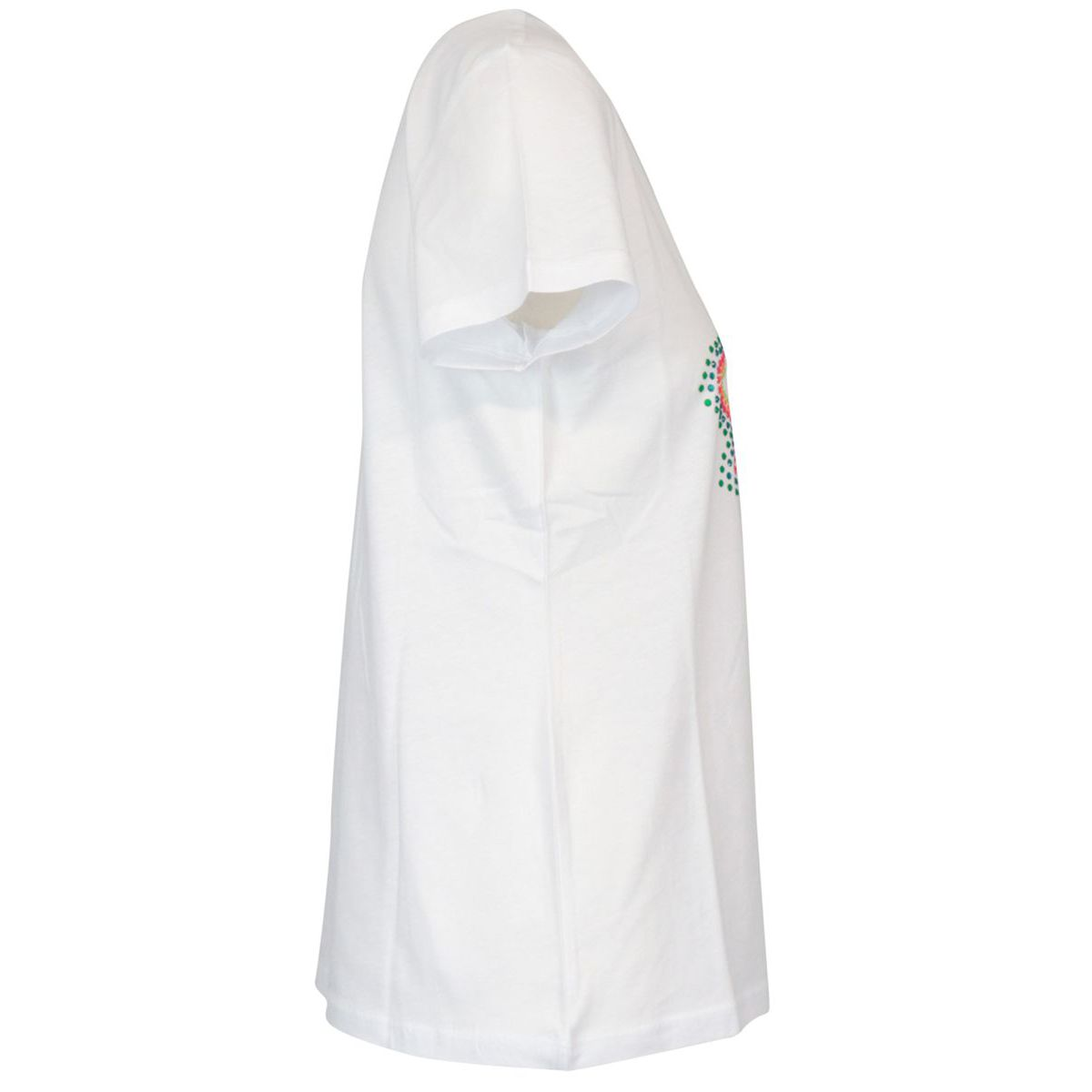 Cotton t-shirt with front multicolor rhinestone logo print White Patrizia Pepe