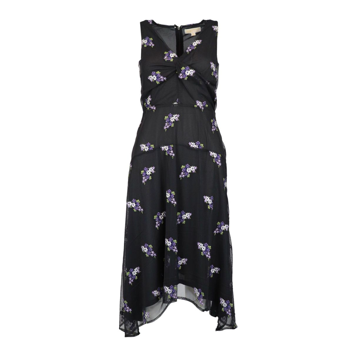 V-neck tulle dress with flower embroidery Orchid Michael Kors
