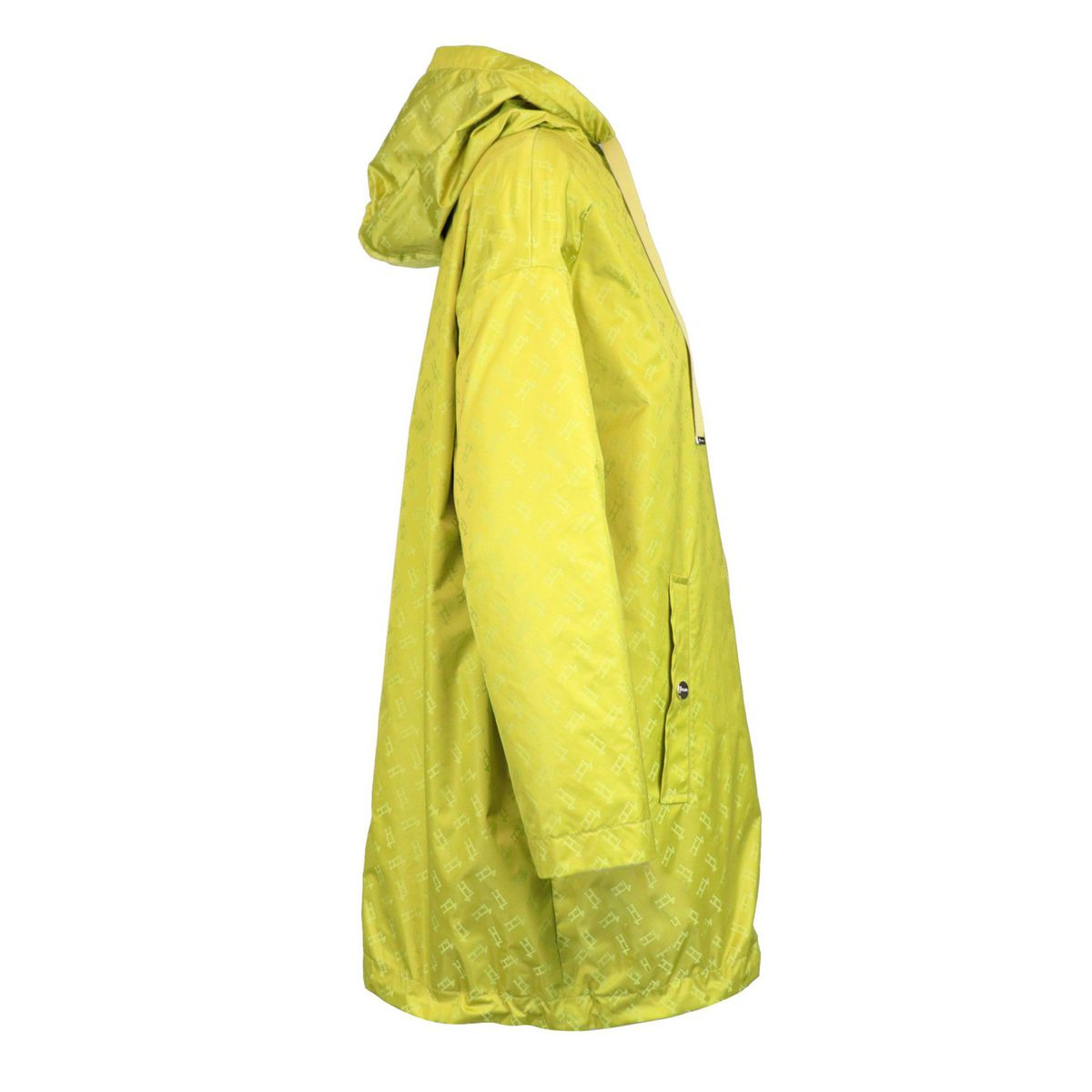 Long reversible windbreaker in satin nylon Yellow Herno