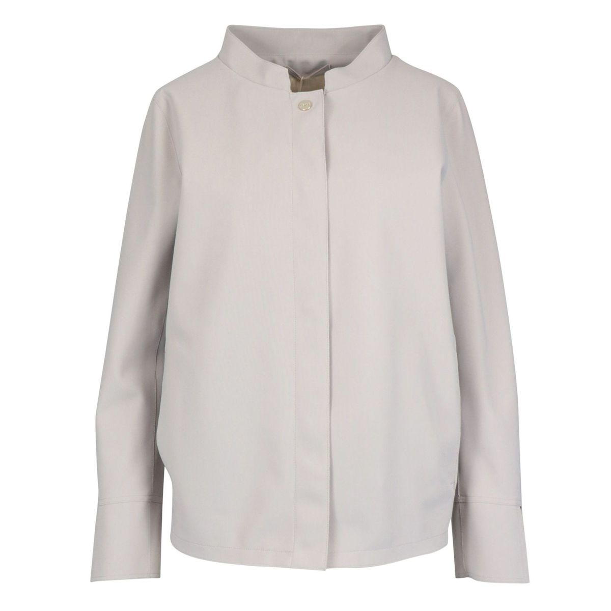 Jacket with mandarin collar in technical stretch fabric Pearl grey Herno