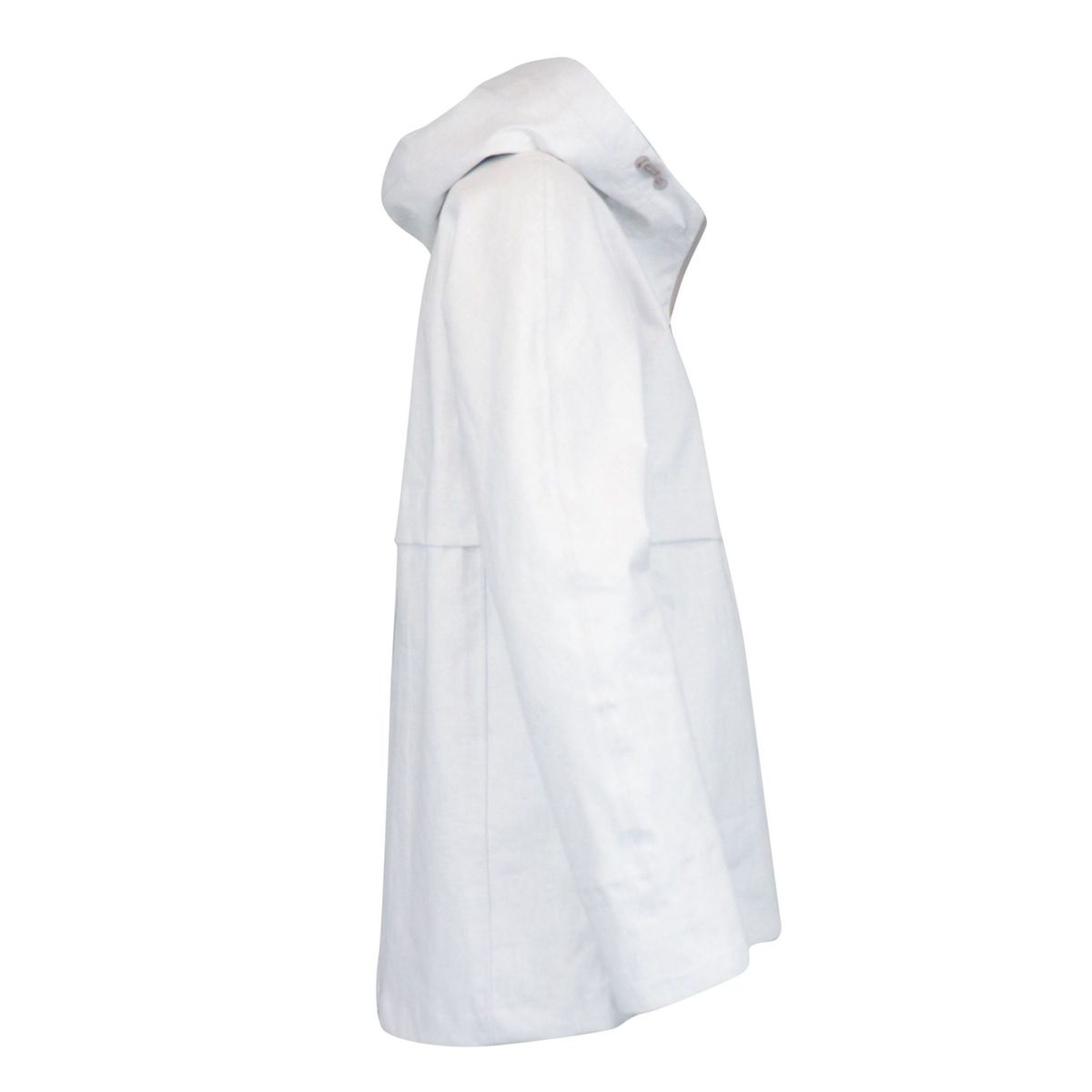 Windbreaker with hood in waterproof linen White Herno