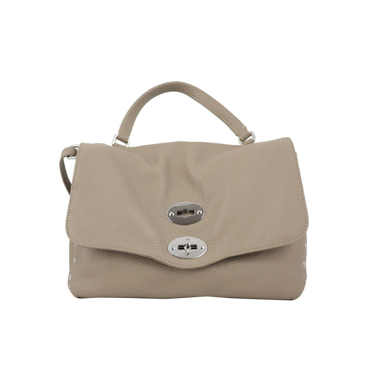 Postina S Daily bag in grained leather Crete Zanellato