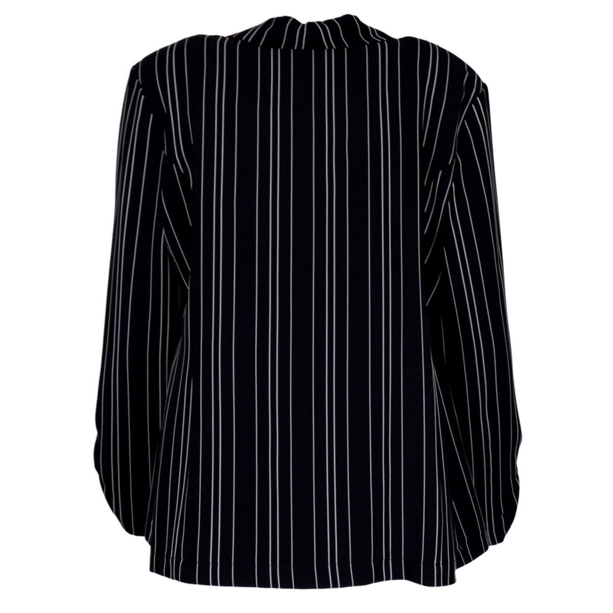 Crepe jacket with two-tone striped pattern Blue / white Joseph Ribkoff