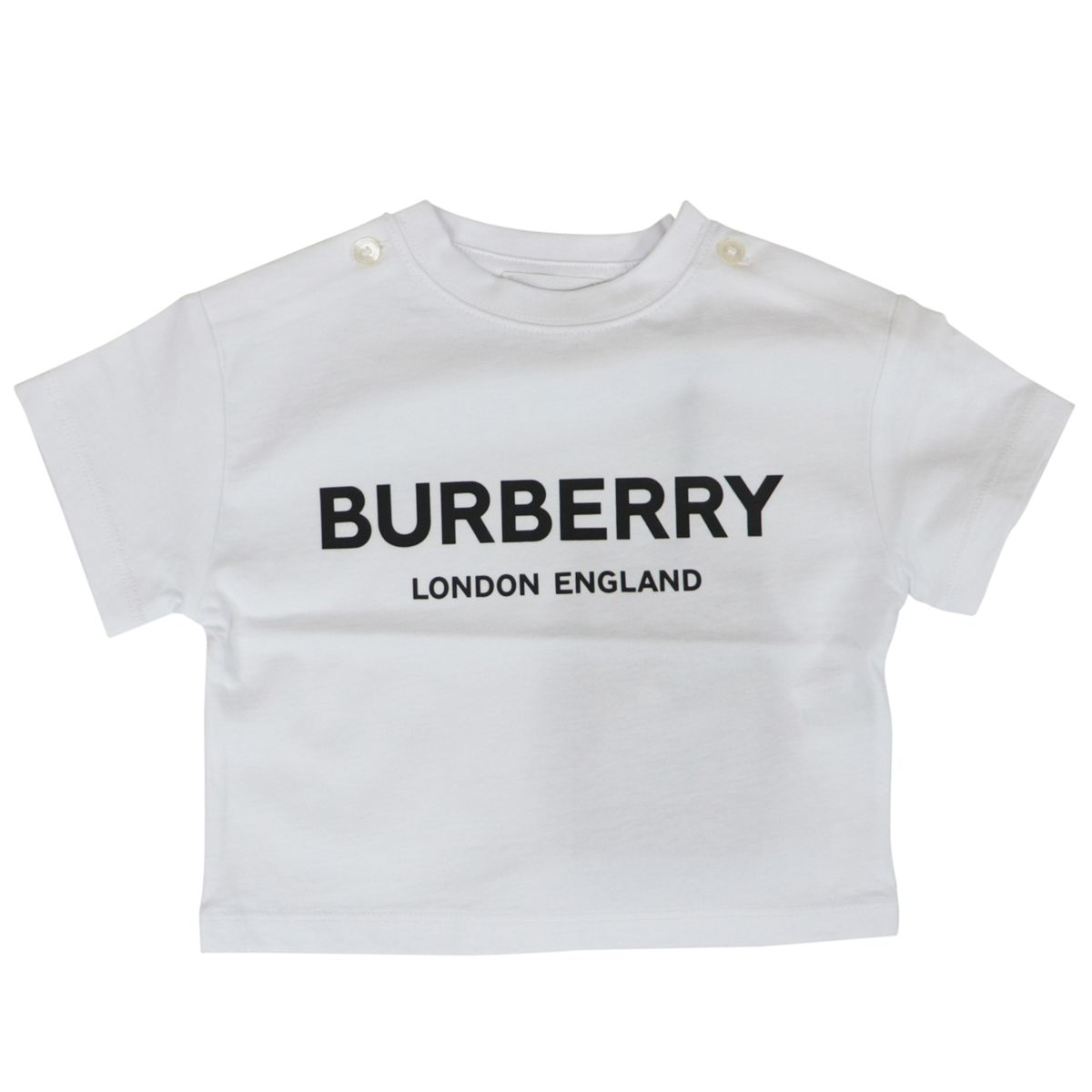 Mini-Robbie short-sleeved cotton T-shirt White Burberry