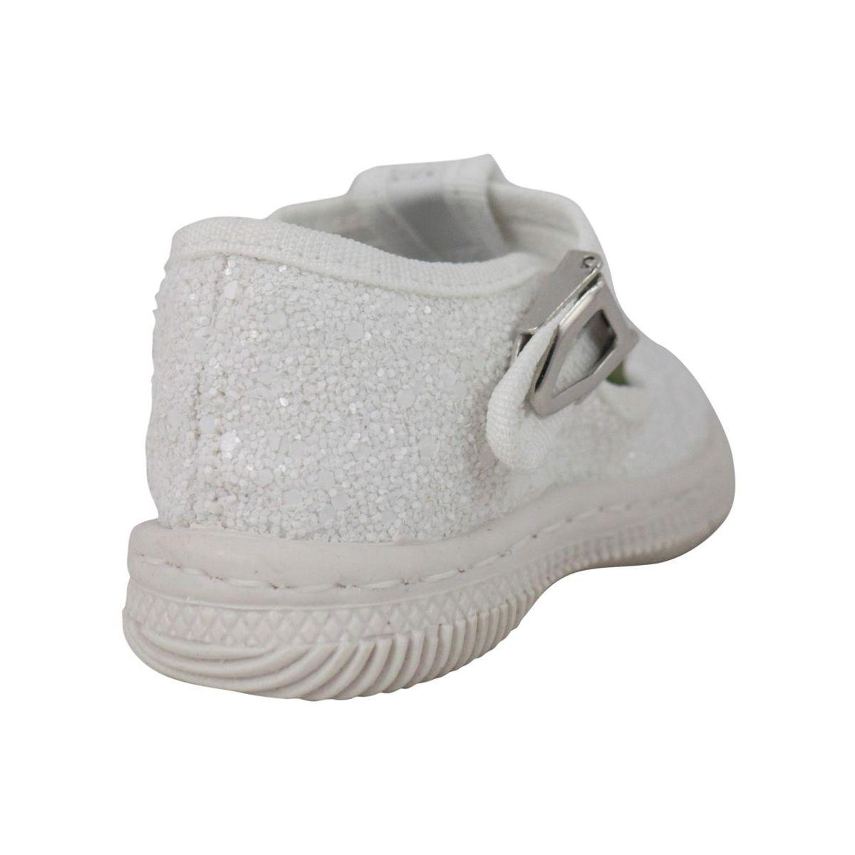Glitter effect shoe with eyes Glitter white 2Star