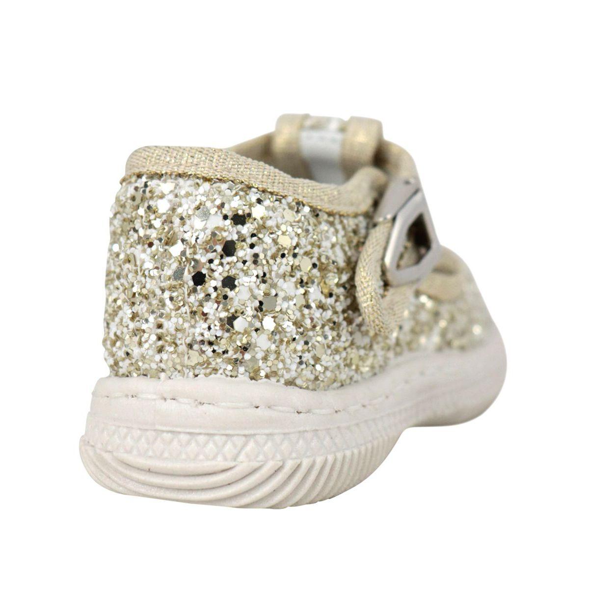 Lurex shoe with eyes Gold 2Star
