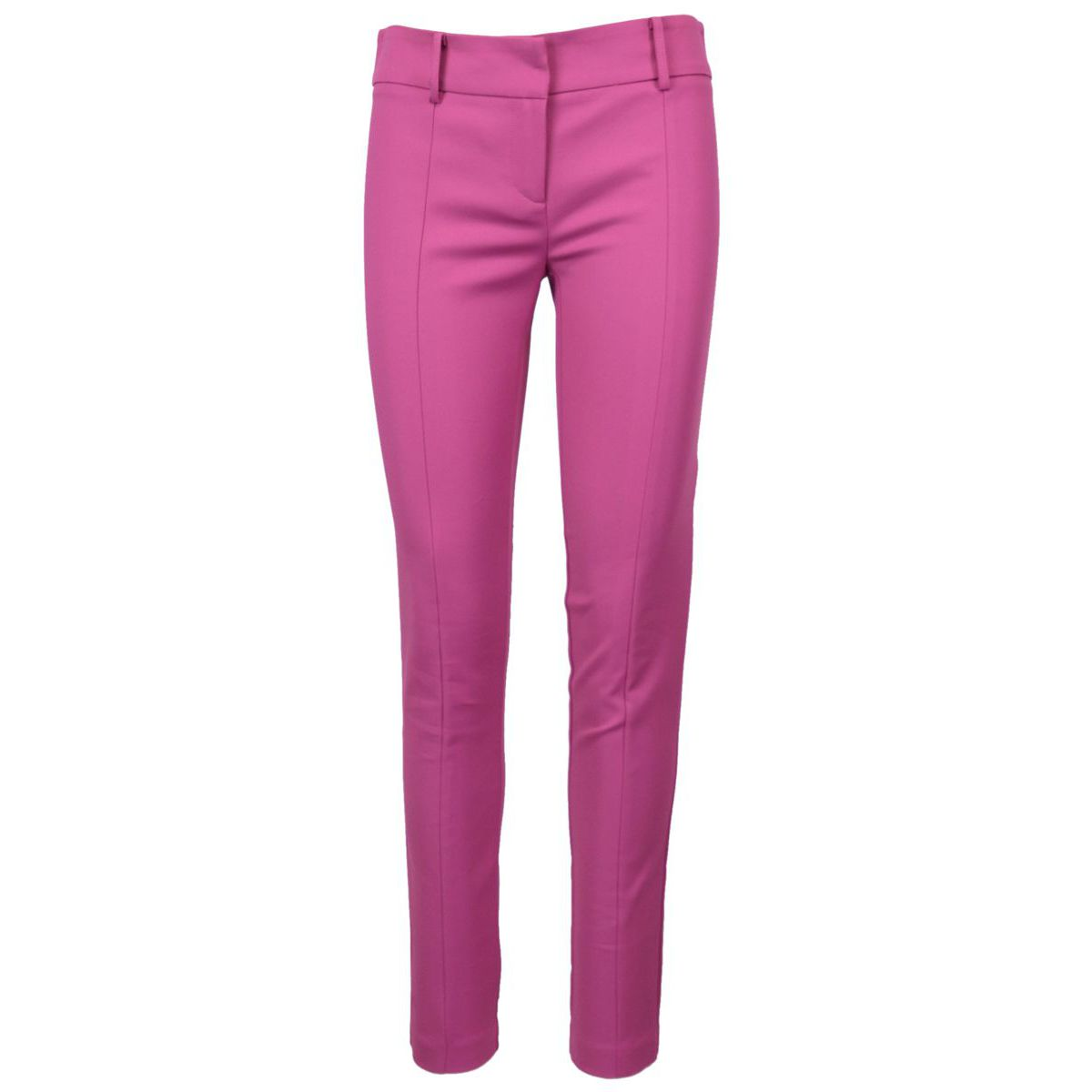 Classic slim-fit trousers in cotton blend Pink cactus Patrizia Pepe