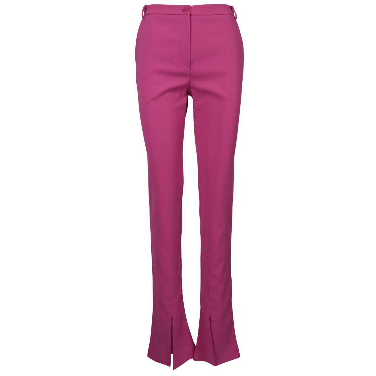 Slim crepe trousers with slits on the bottom Very berry Patrizia Pepe