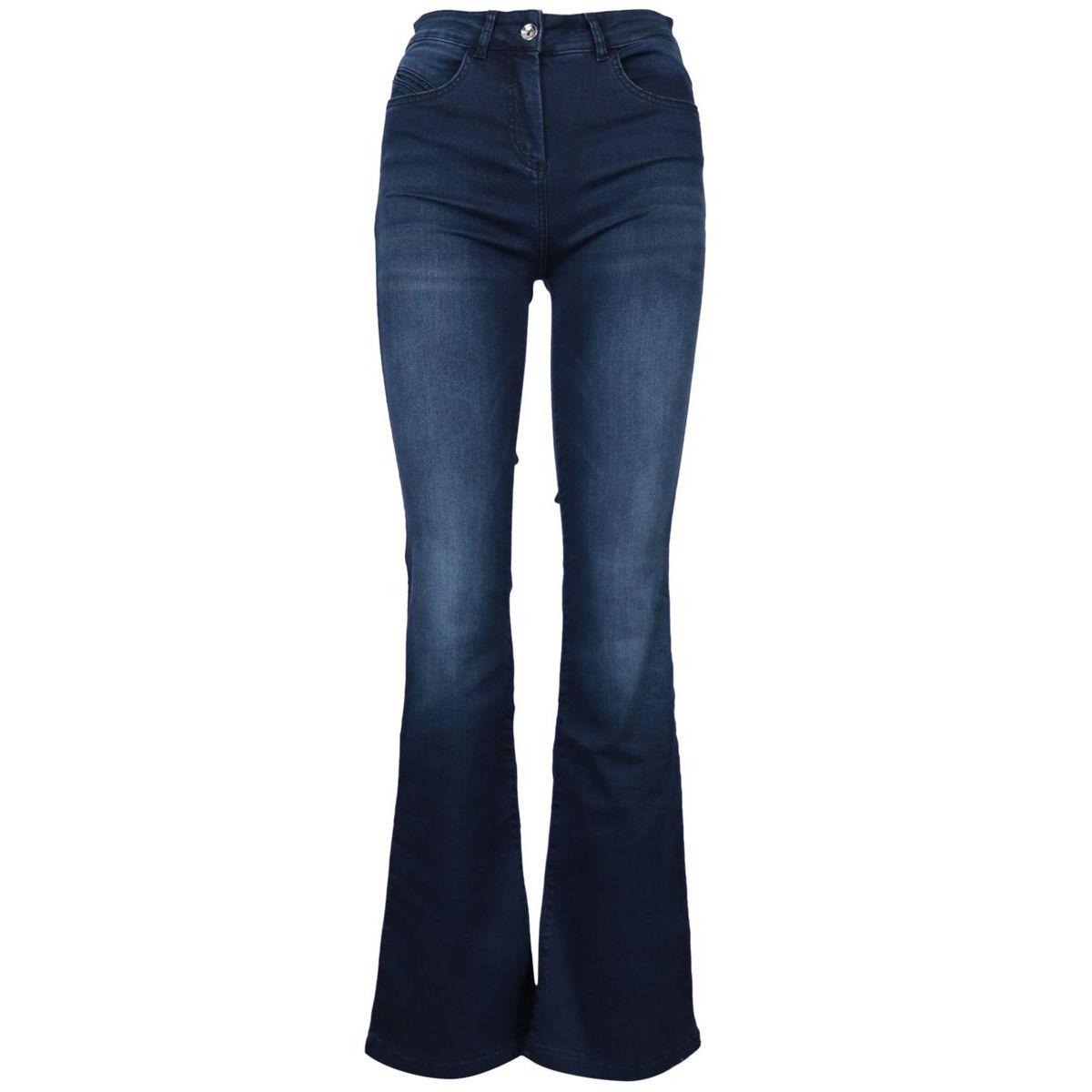 Slim denim jeans with flared bottom Dark denim Patrizia Pepe