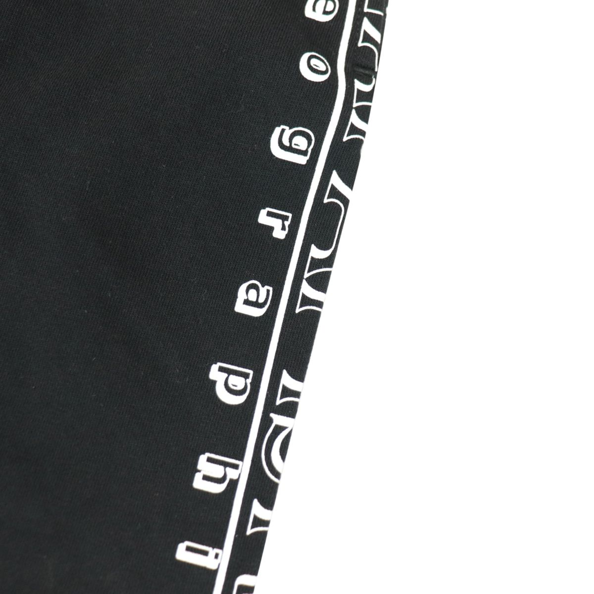 Cotton bermuda with vertical logo print Black NAPAPIJRI