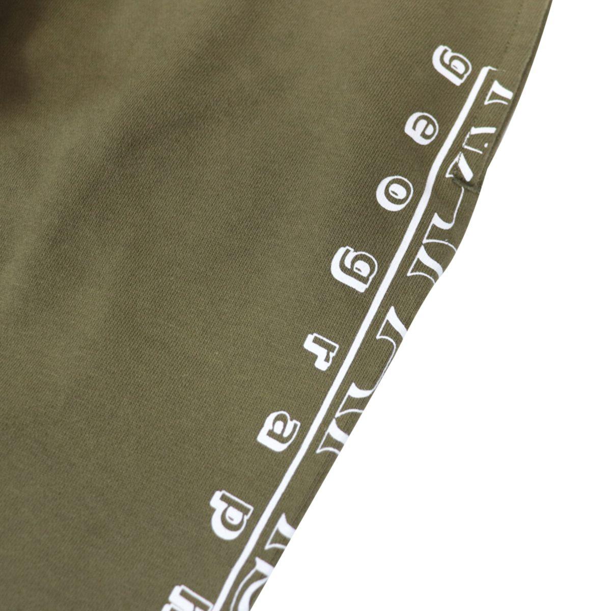 Cotton bermuda with vertical logo print Green NAPAPIJRI