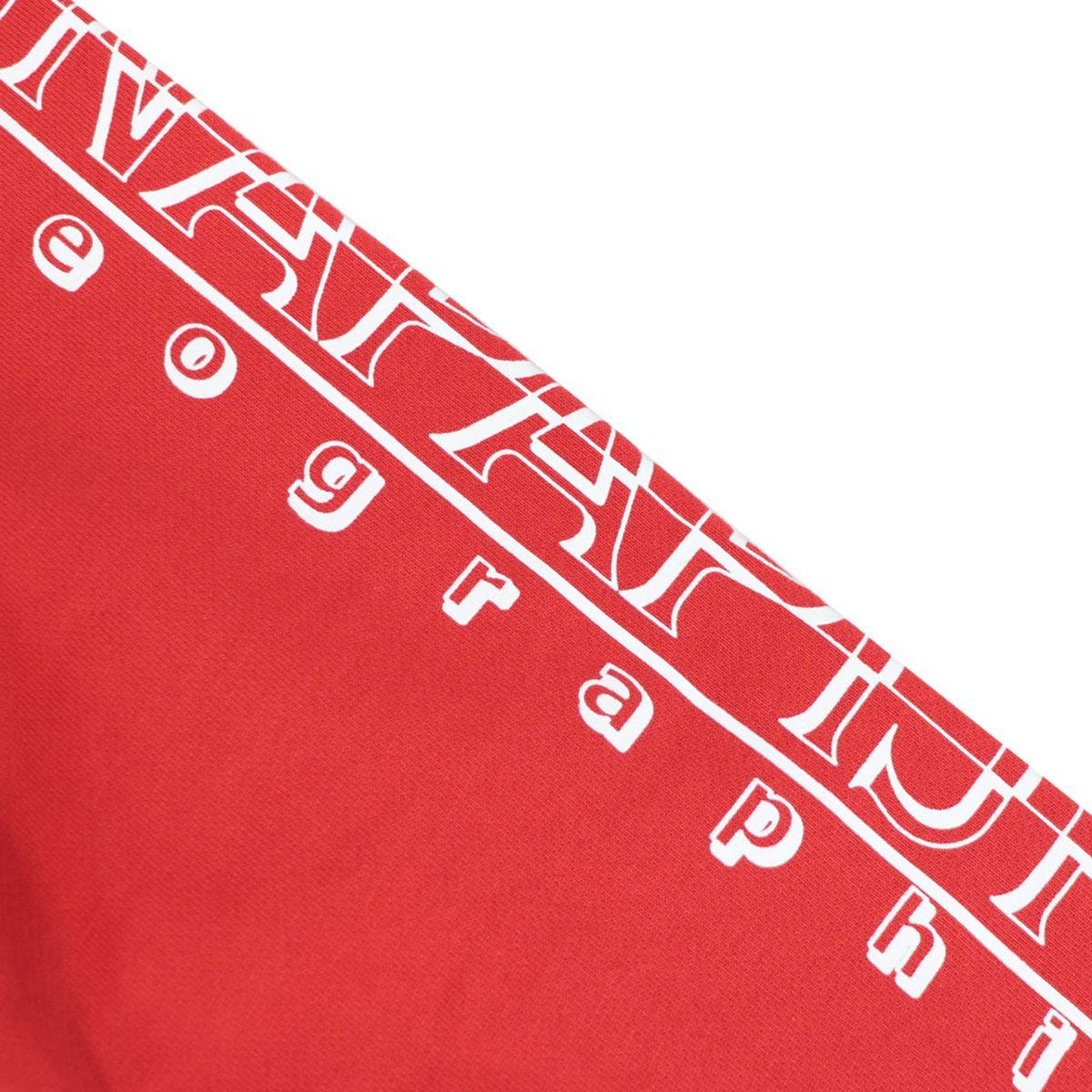 Full zip cotton sweatshirt with hood with logo print on the sleeve Red NAPAPIJRI