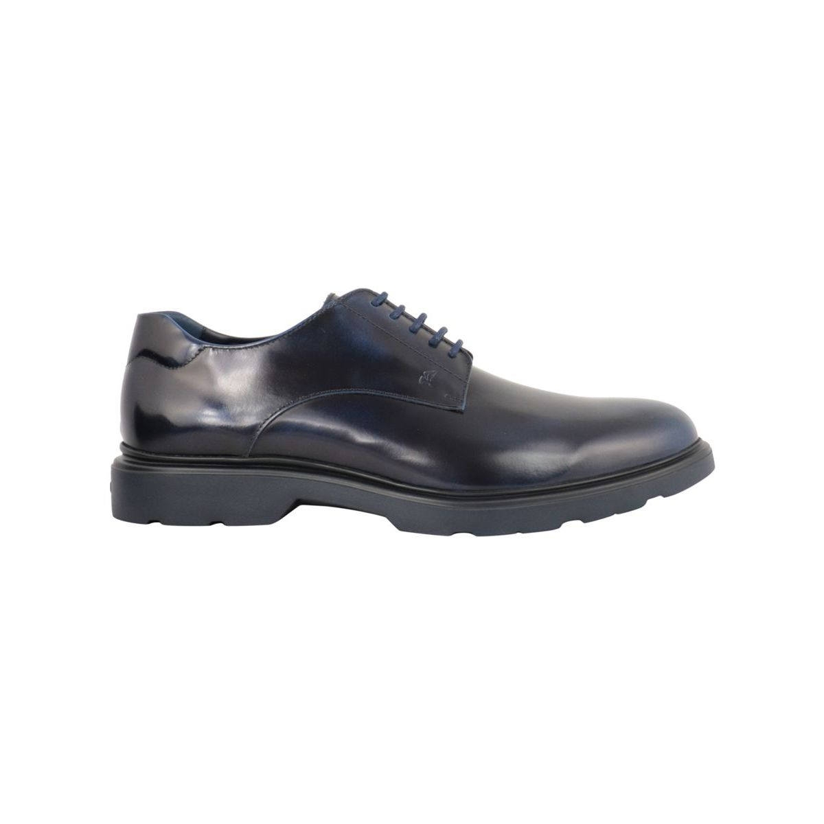 Leather derby with lace up bottom 393 Navy Hogan
