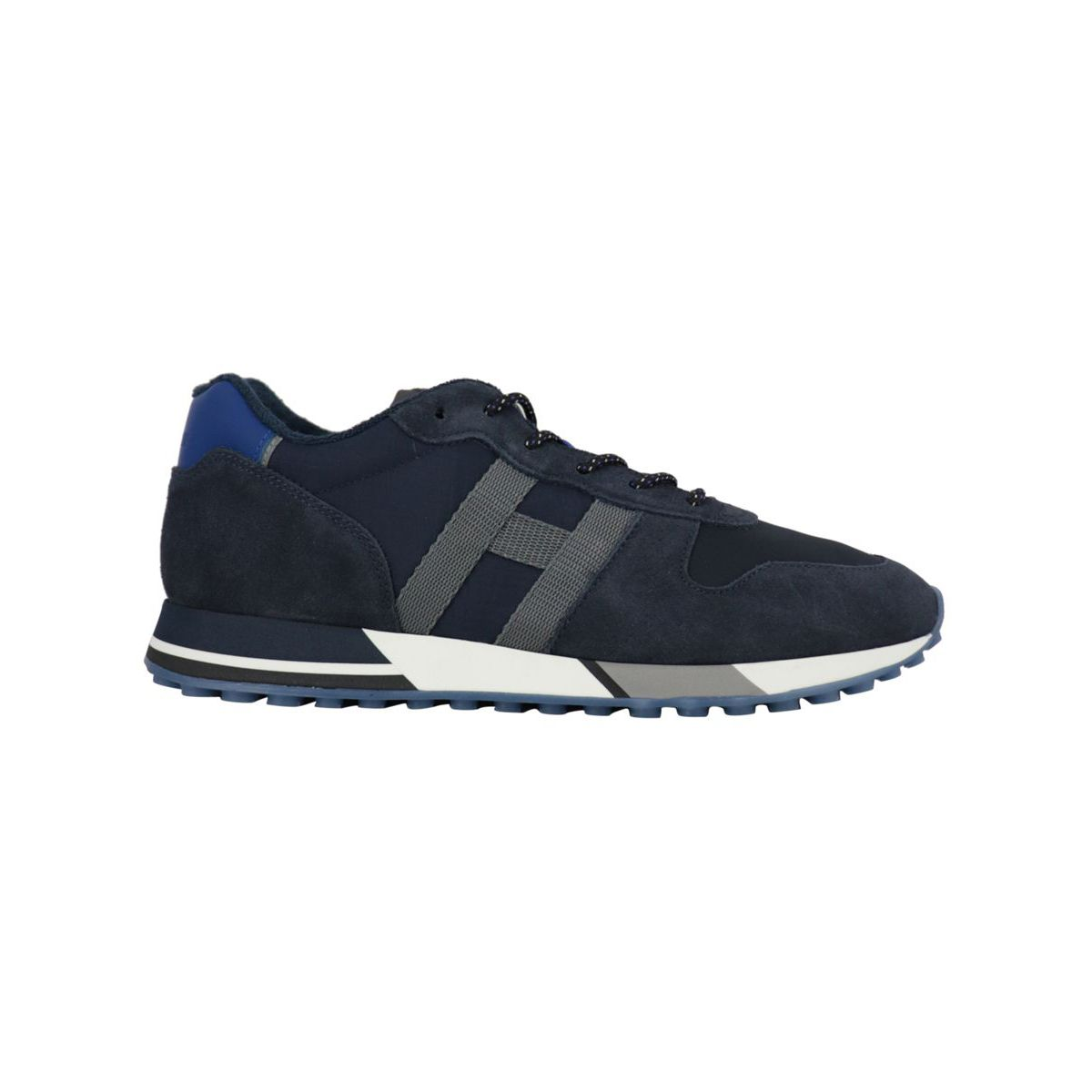 Suede and mesh sneakers 383 bottom Navy Hogan