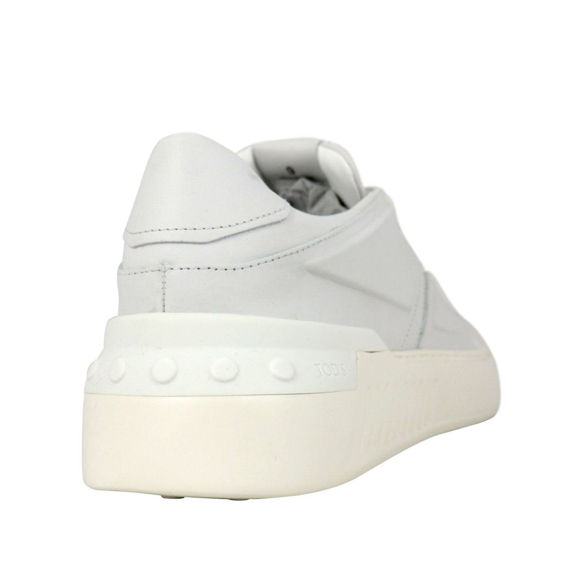 No_Code leather sneakers with drawstring closure White Tod's