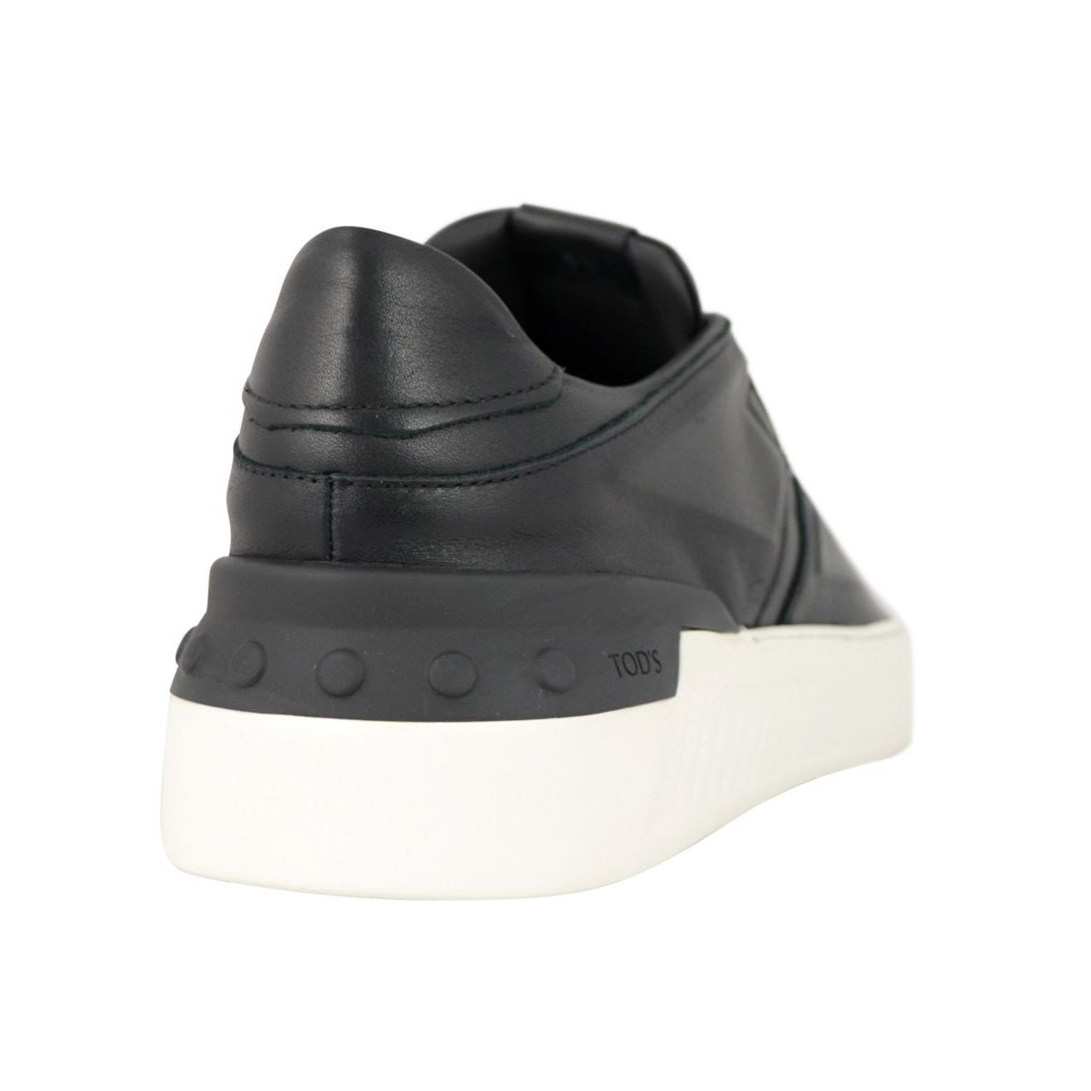 No_Code leather sneakers with drawstring closure Black Tod's