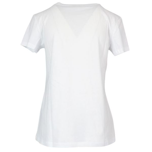 Cotton t-shirt with heart and beads embroidery White Patrizia Pepe
