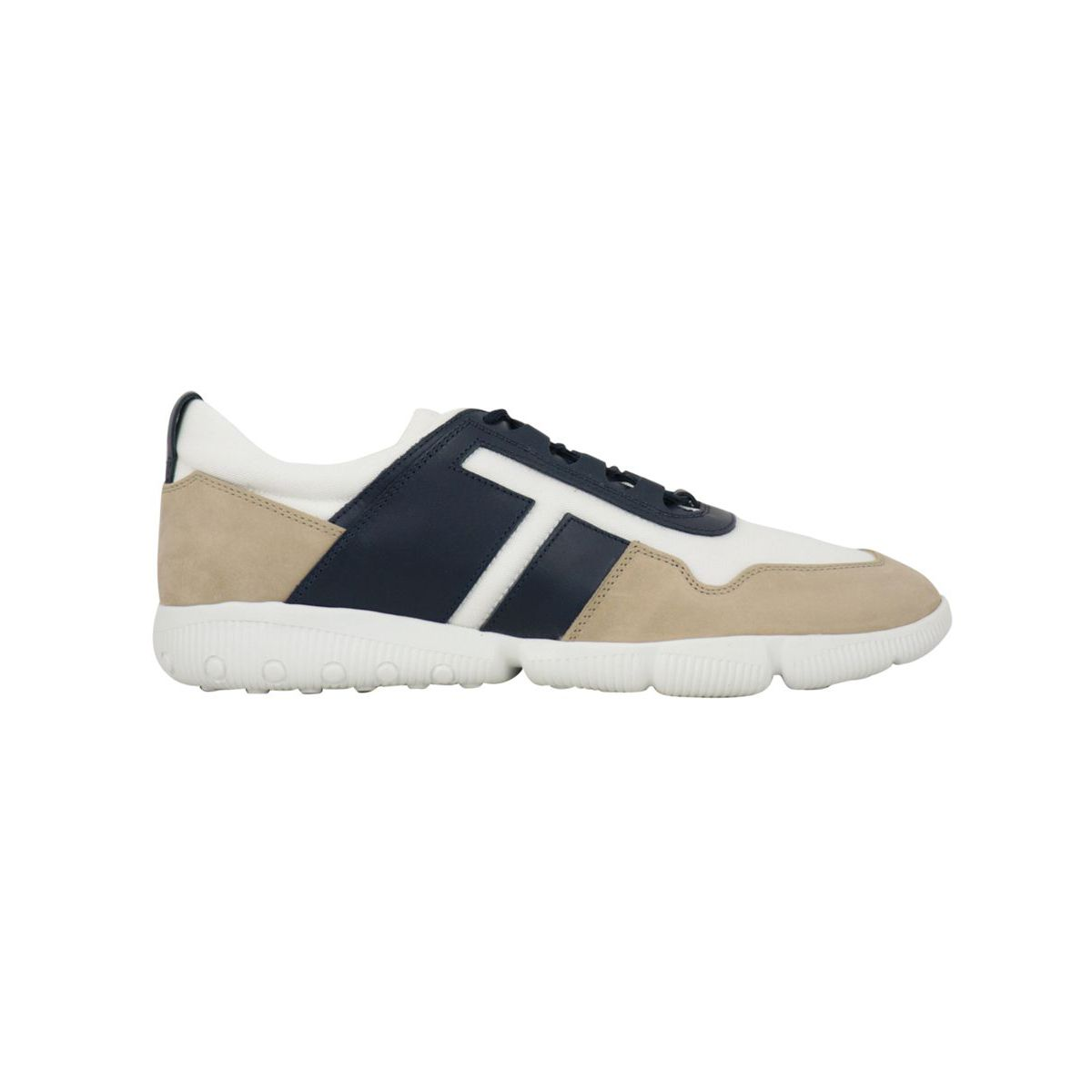 25 competition bimaterial sneakers White navy beige Tod's