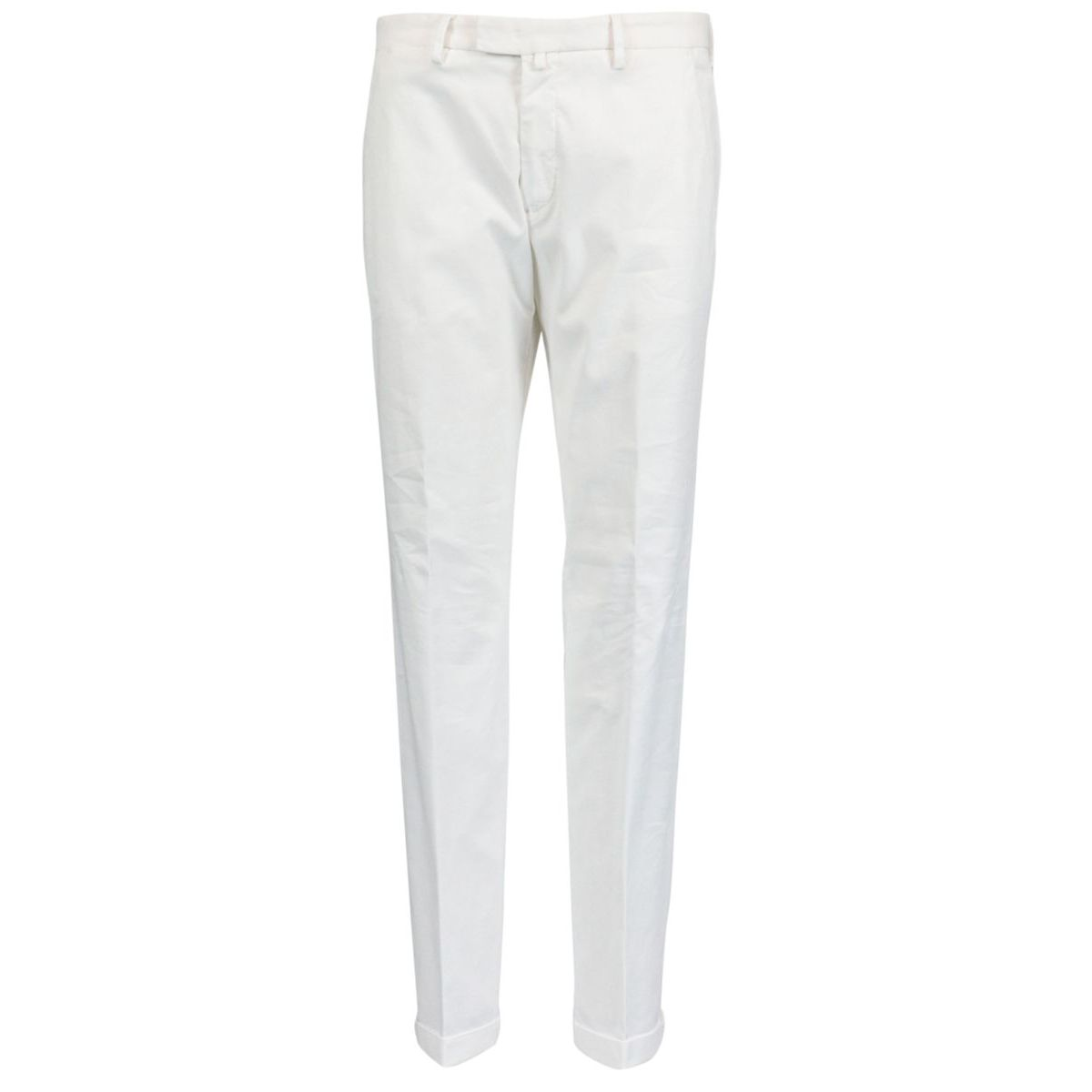 Slim-fit trousers in cotton blend with America pockets White Briglia