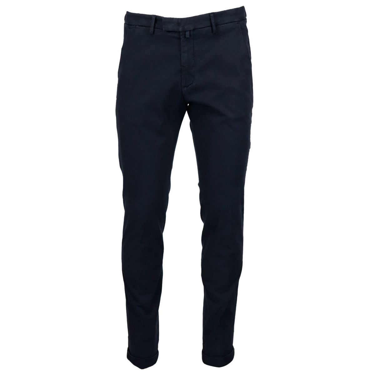 Slim-fit trousers in cotton blend with America pockets Navy Briglia