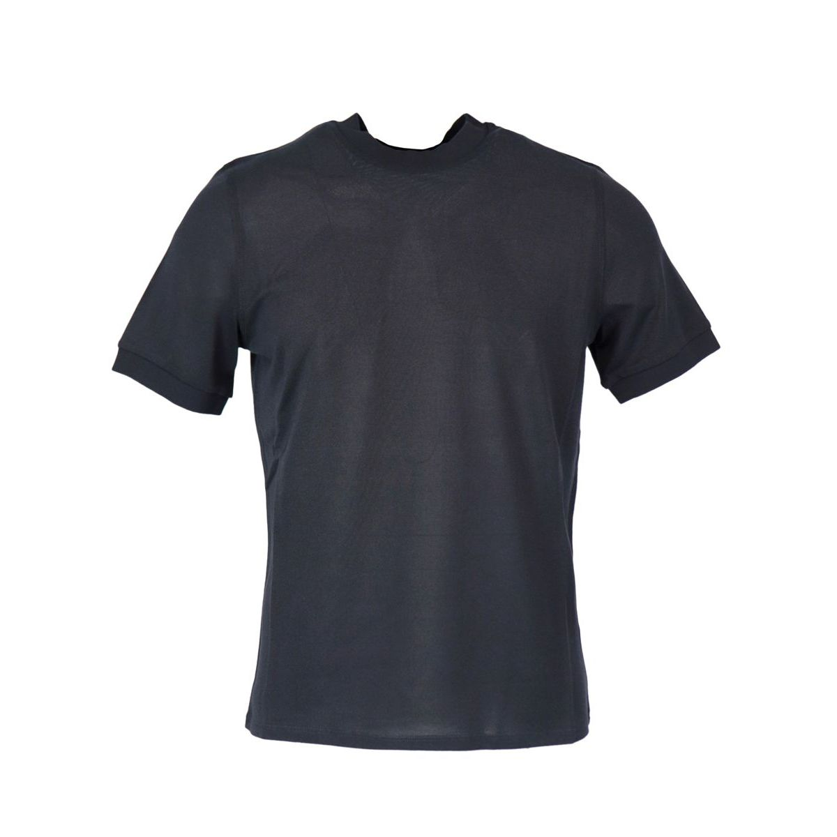Crew neck t-shirt in silk and cotton Night Alpha Studio
