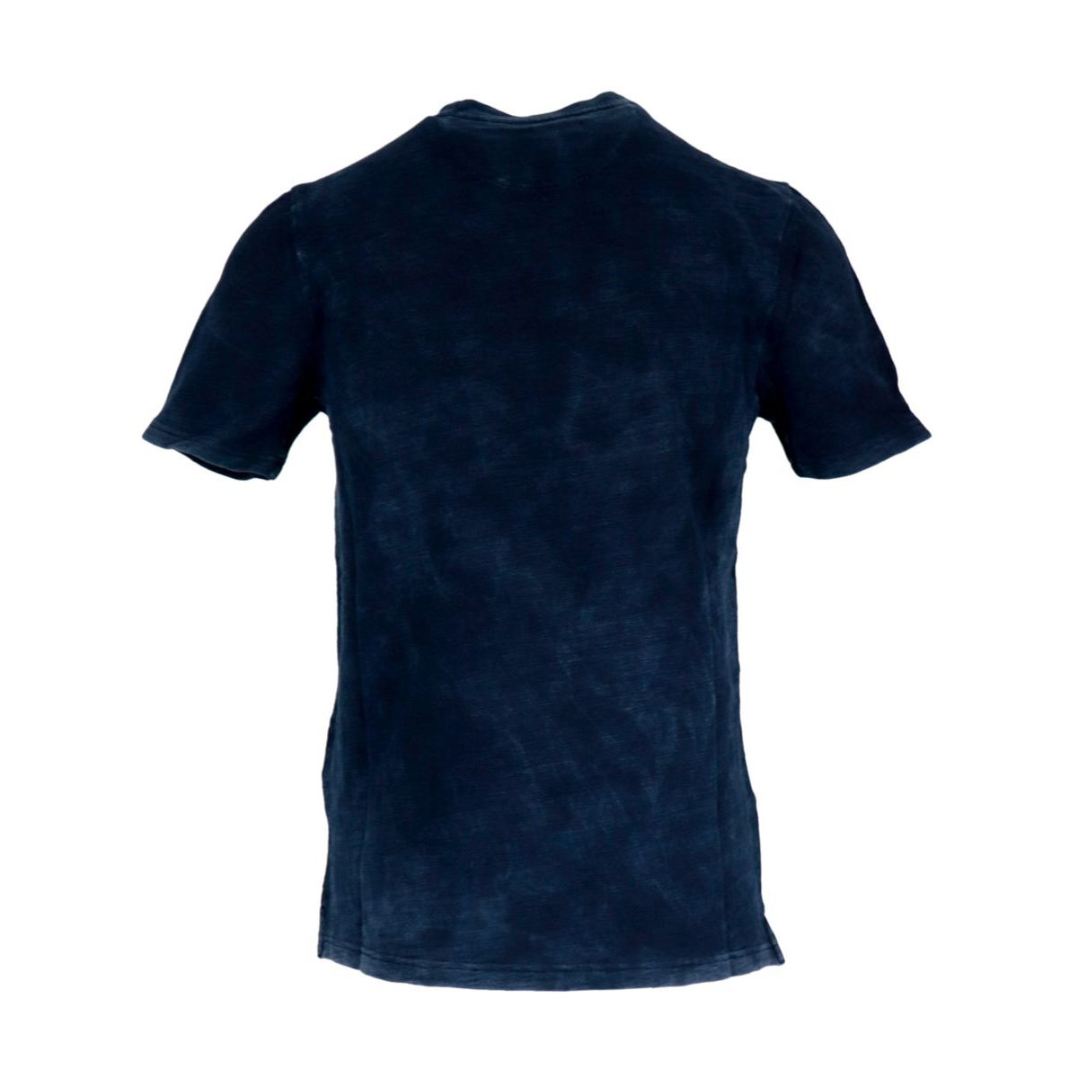 Crew-neck t-shirt in washed effect cotton Navy Alpha Studio