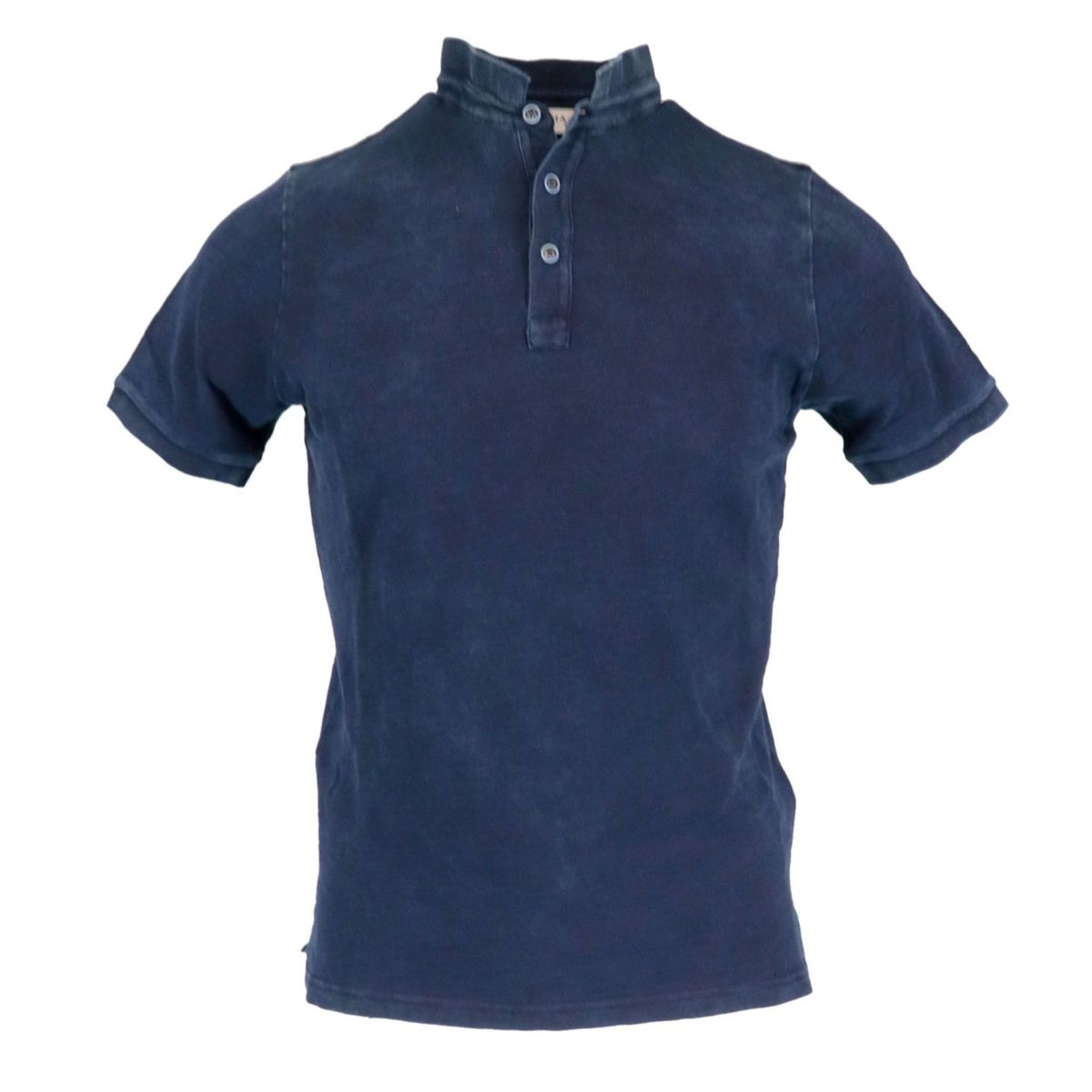 3-button seraph in washed effect cotton Night Alpha Studio