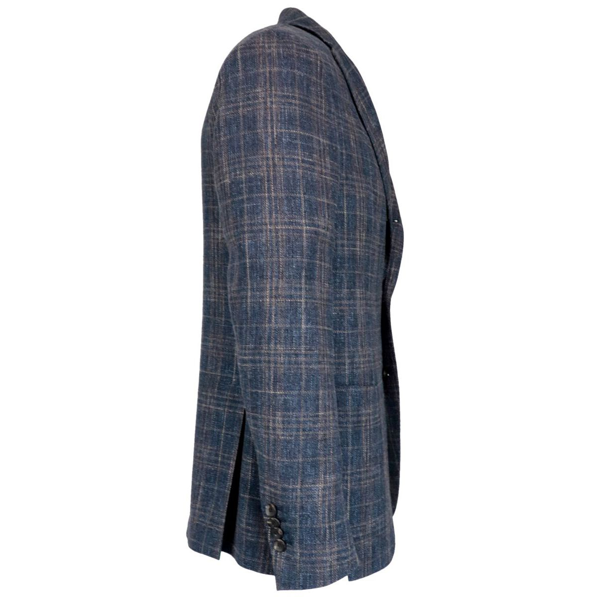 Wool and cotton jacket with patch pockets Blue Lardini