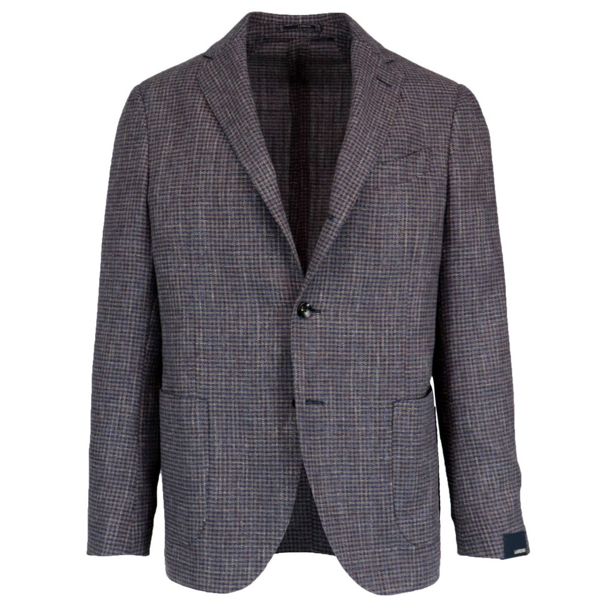 Wool and cotton jacket with patch pockets Royal Lardini