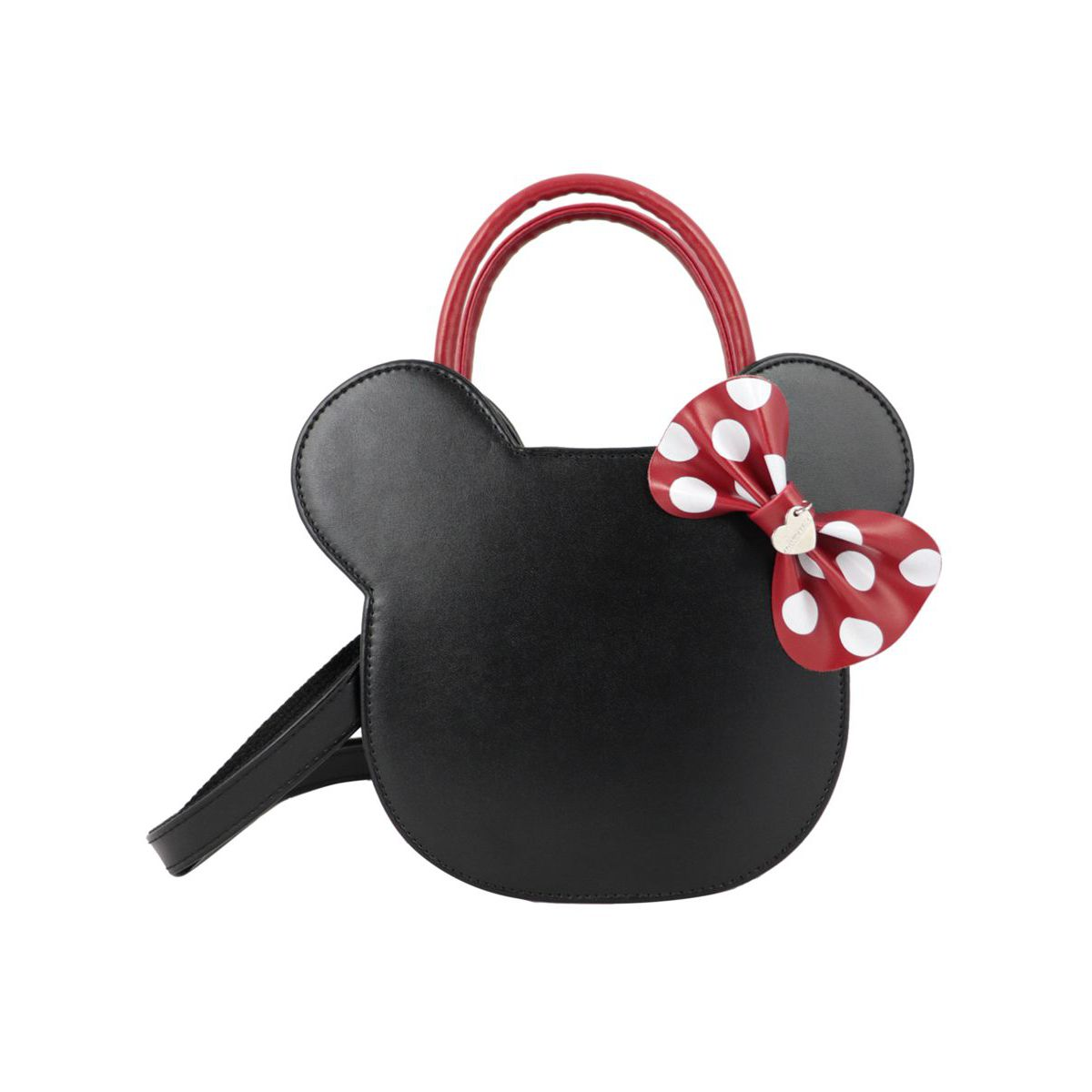 Minnie faux leather bag Black Monnalisa