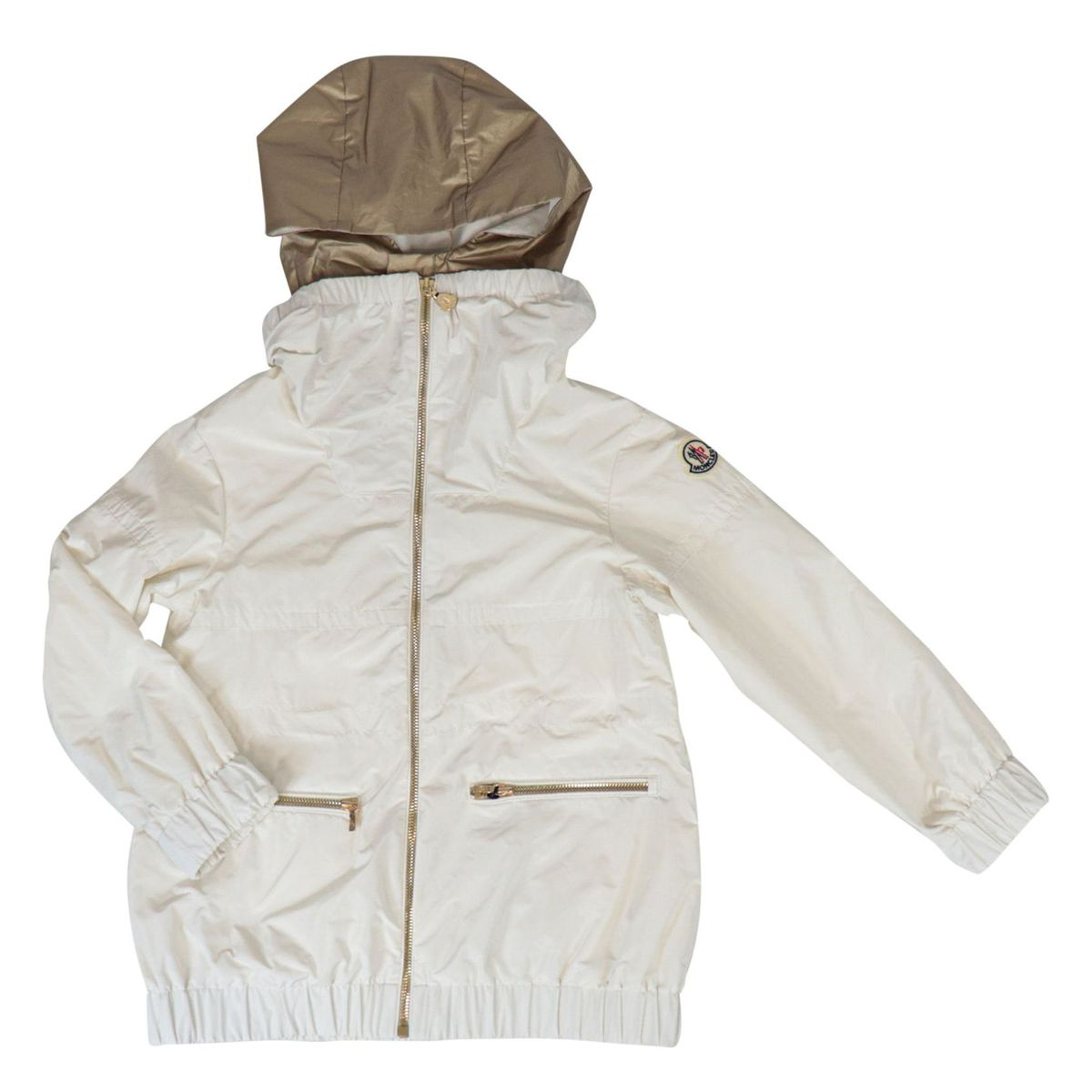 Inna windbreaker in nylon with contrasting hood White Moncler